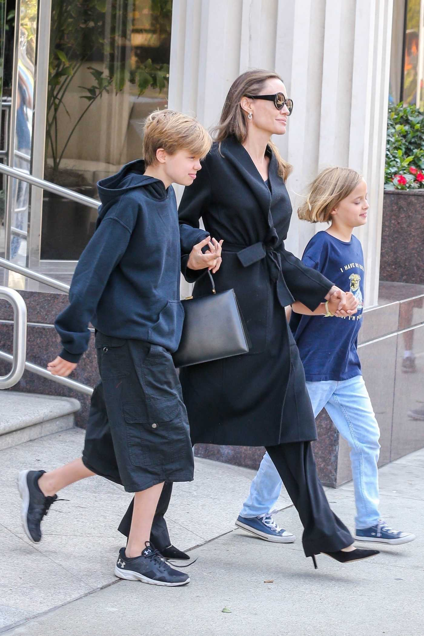Angelina Jolie Out with Her Kids Leaves a Movie Theater in Los Angeles 08/18/2018