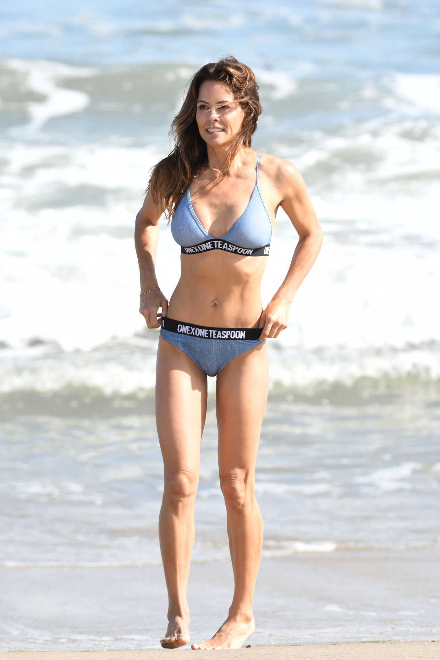 Brooke Burke in Bikini on the Beach in Malibu 08/27/2018