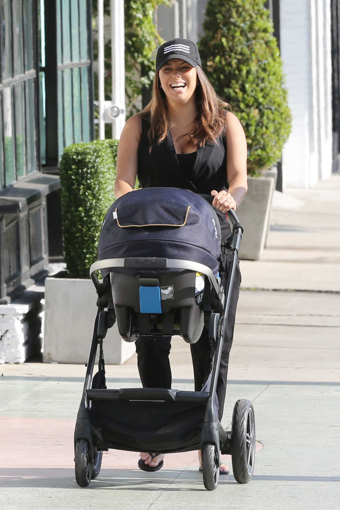 Eva Longoria Was Spotted with a Pram Out in Beverly Hills 08/15/2018