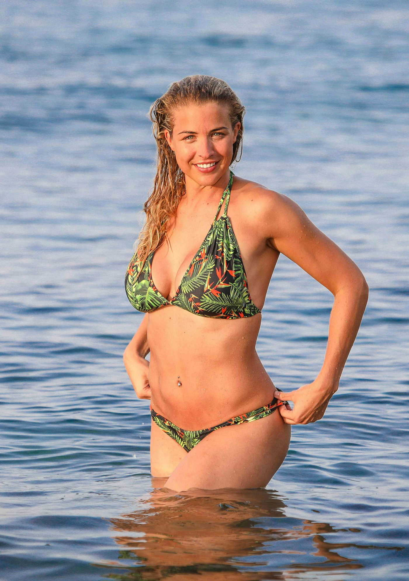 Gemma Atkinson in a Bikini on Karma Minoan in Crete 08/08/2018