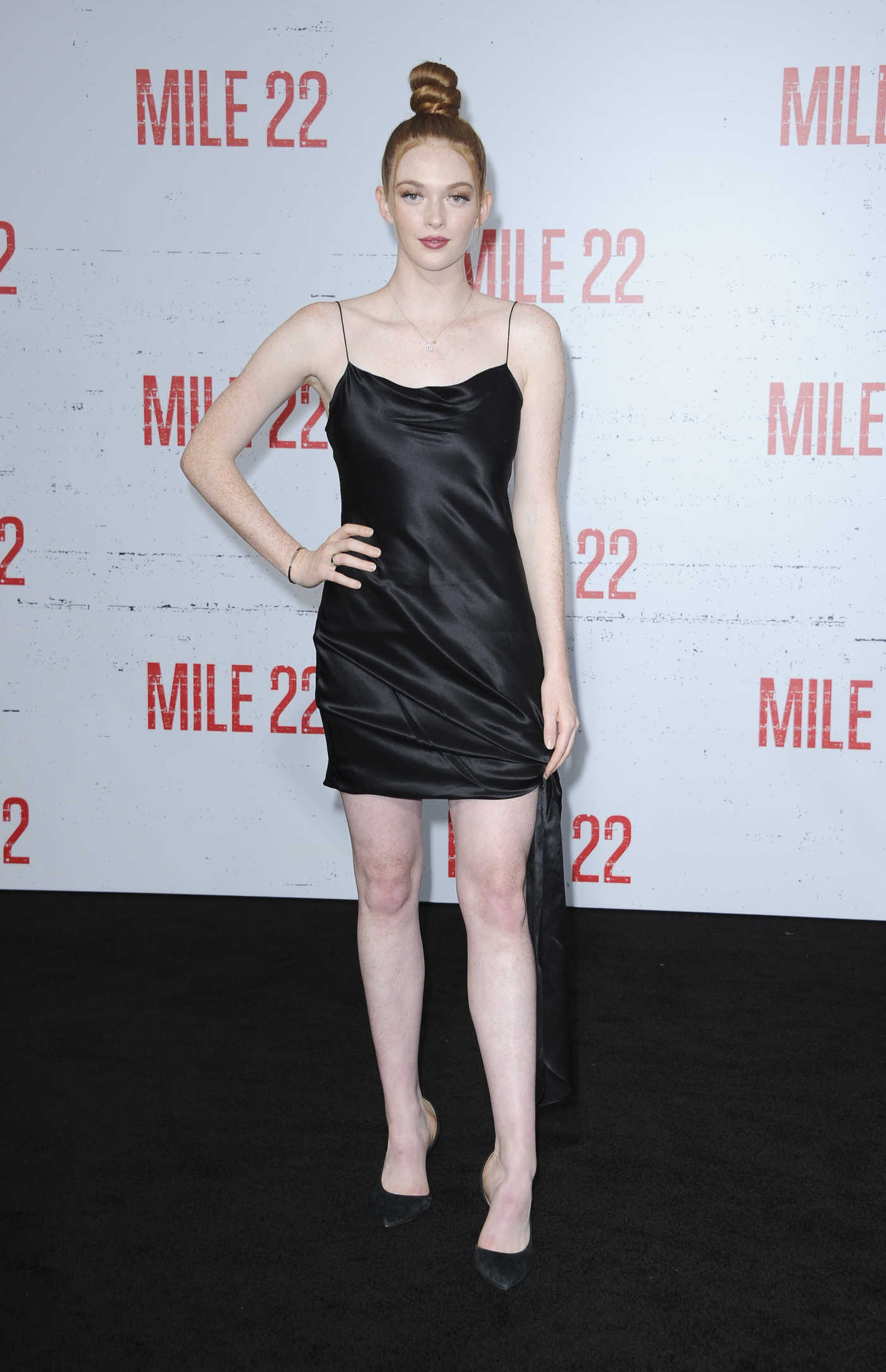 Larsen Thompson at the Mille 22 Premiere in Westwood 08/09/2018