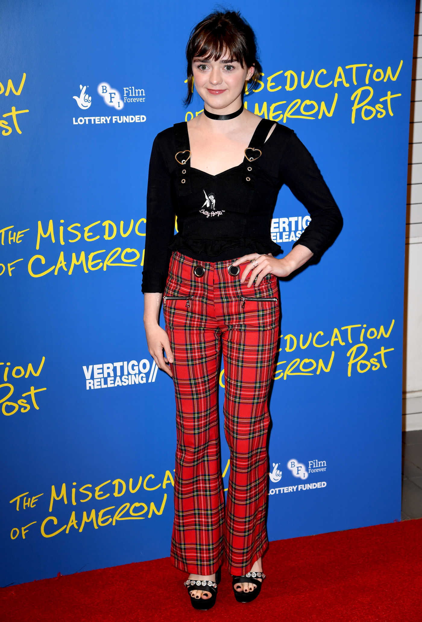 Maisie Williams Attends The Miseducation of Cameron Post Gala Screening in London 08/22/2018