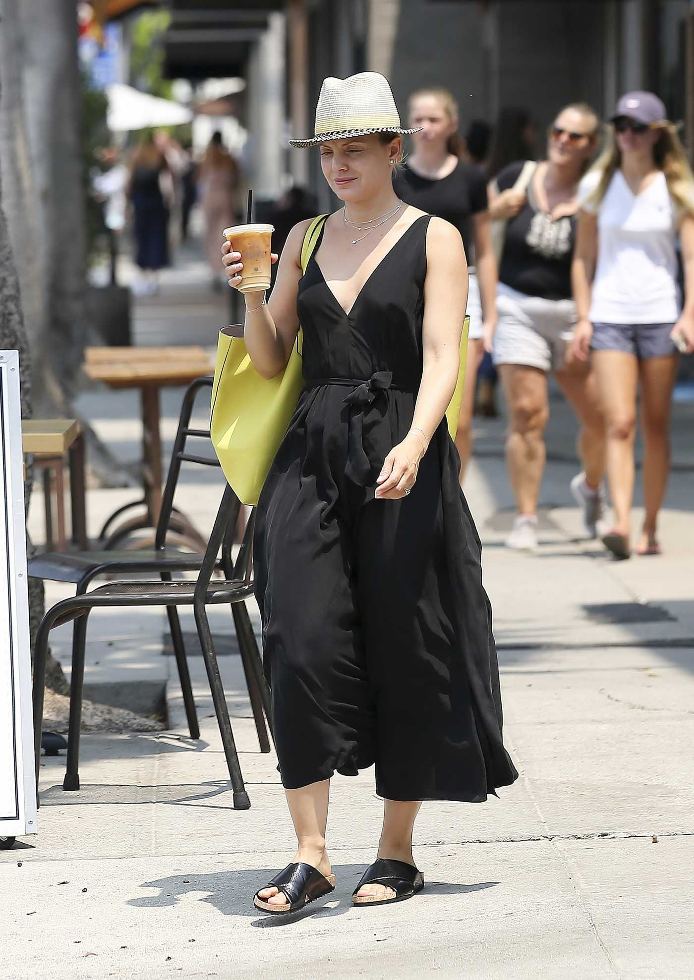 Mena Suvari in a Black Dress Was Seen Out in Los Angeles 08/10/2018