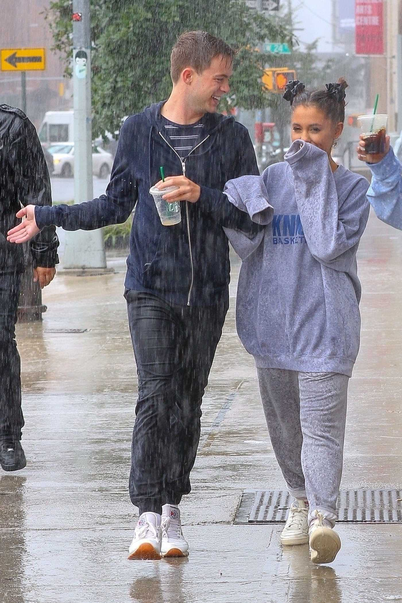 Ariana Grande Walks in the Rain Out in NYC 09/17/2018