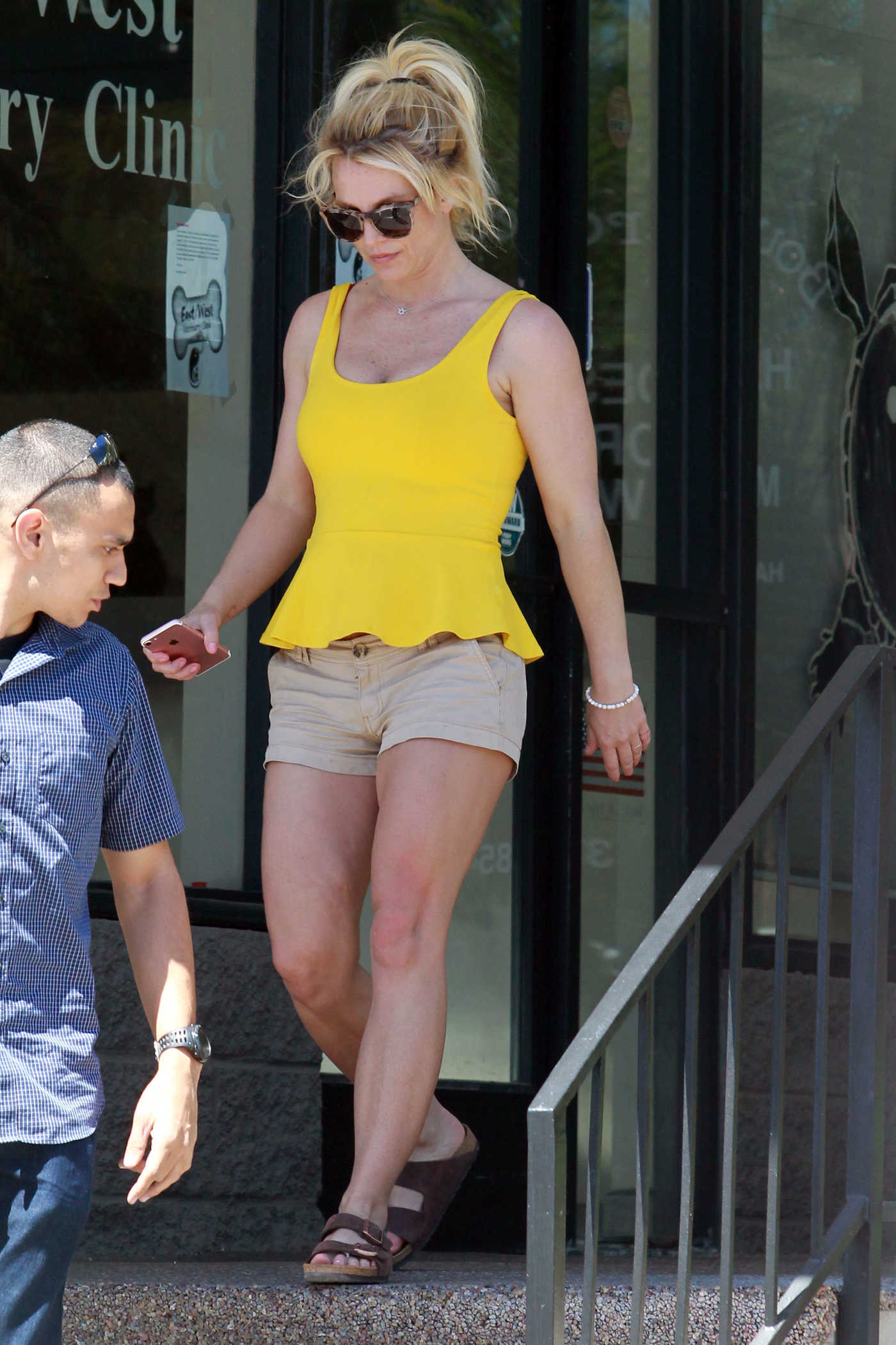 Britney Spears in a Yellow Blouse Was Seen Near Her Home in LA 09/15/2018