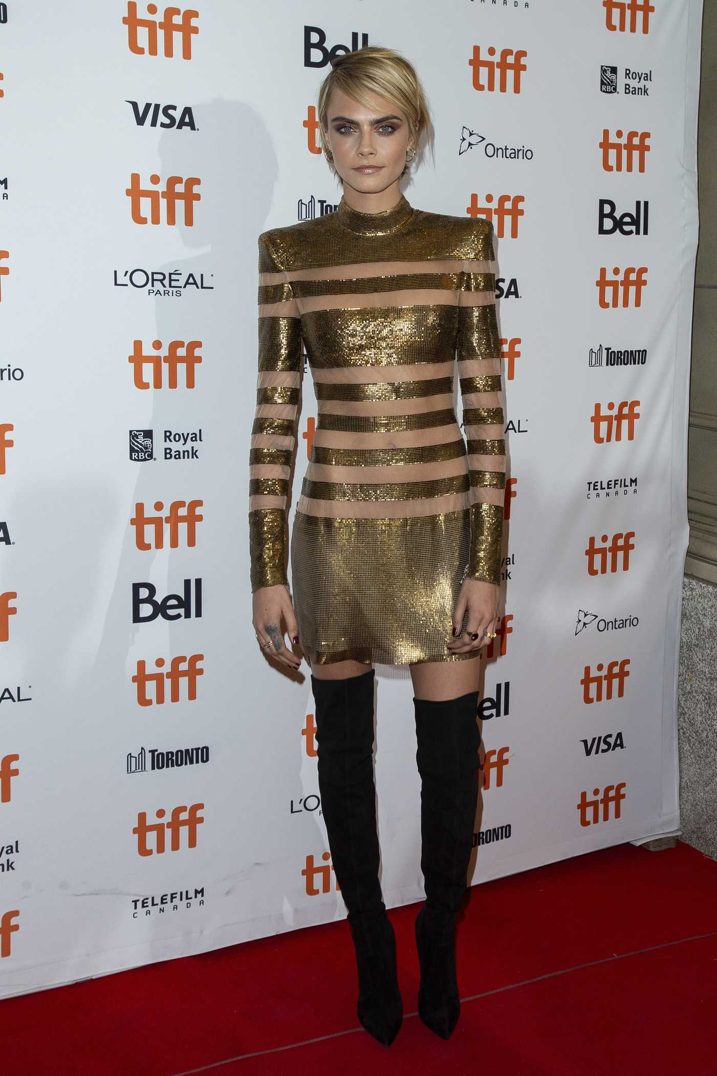 Cara Delevingne at Her Smell Premiere During the Toronto International Film Festival in Toronto 09/09/2018