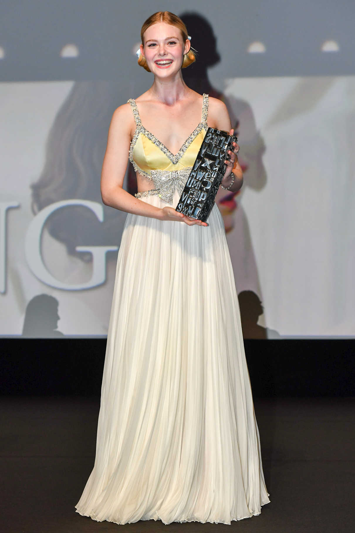 Elle Fanning Receives the Rising Star Award During the 44th Deauville American Film Festival in Deauville 09/01/2018