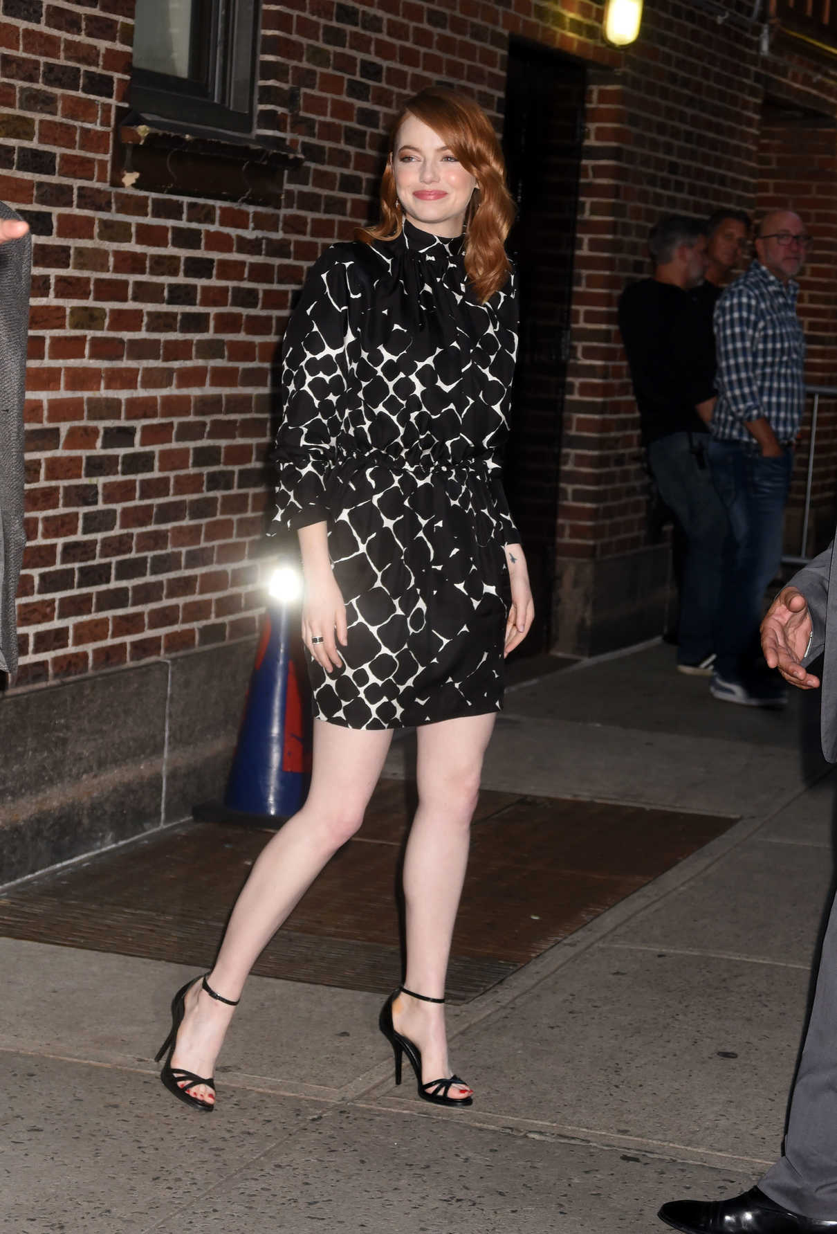 Emma Stone Leaves The Late Show with Stephen Colbert at The Ed Sullivan Theater in NYC 09/19/2018