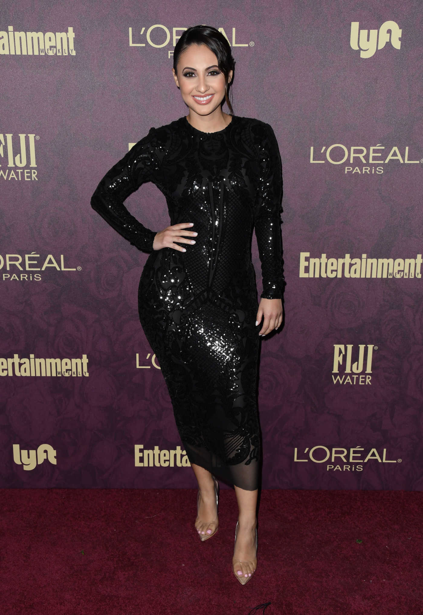 Francia Raisa Attends Entertainment Weekly and L'Oreal Paris Pre-Emmy Party in Los Angeles 09/15/2018