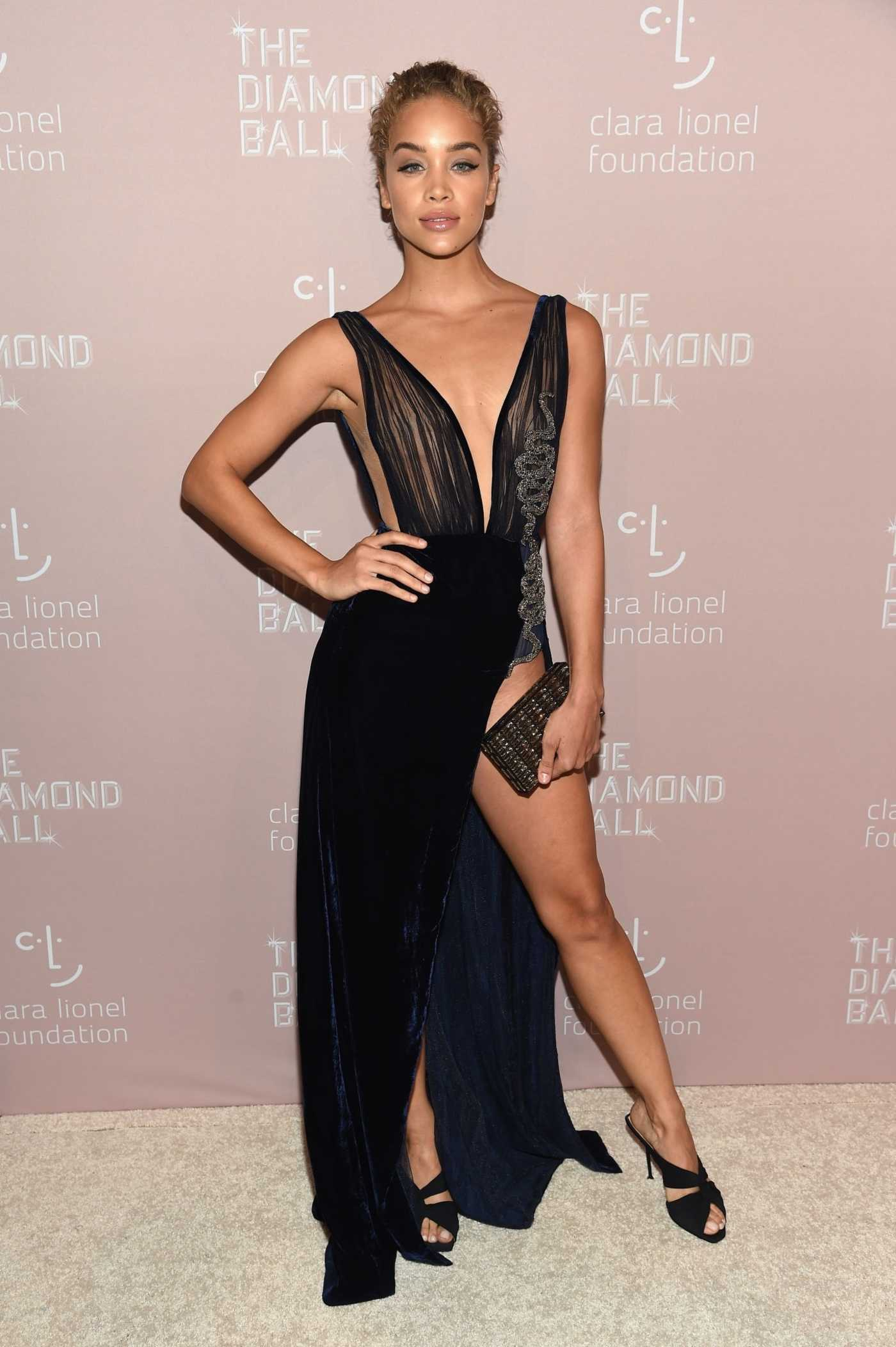 Jasmine Sanders at the 4th Annual Clara Lionel Foundation Diamond Ball in New York 09/13/2018