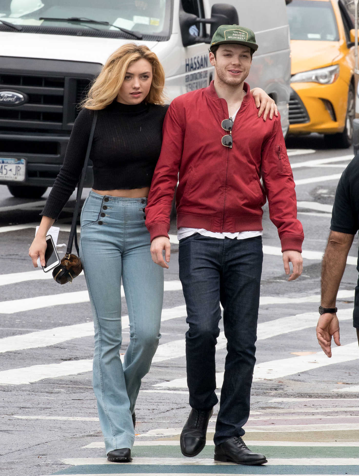 Peyton List in a Blue Slim Bootcut Jeans Was Seen Out in New York 09/11/2018