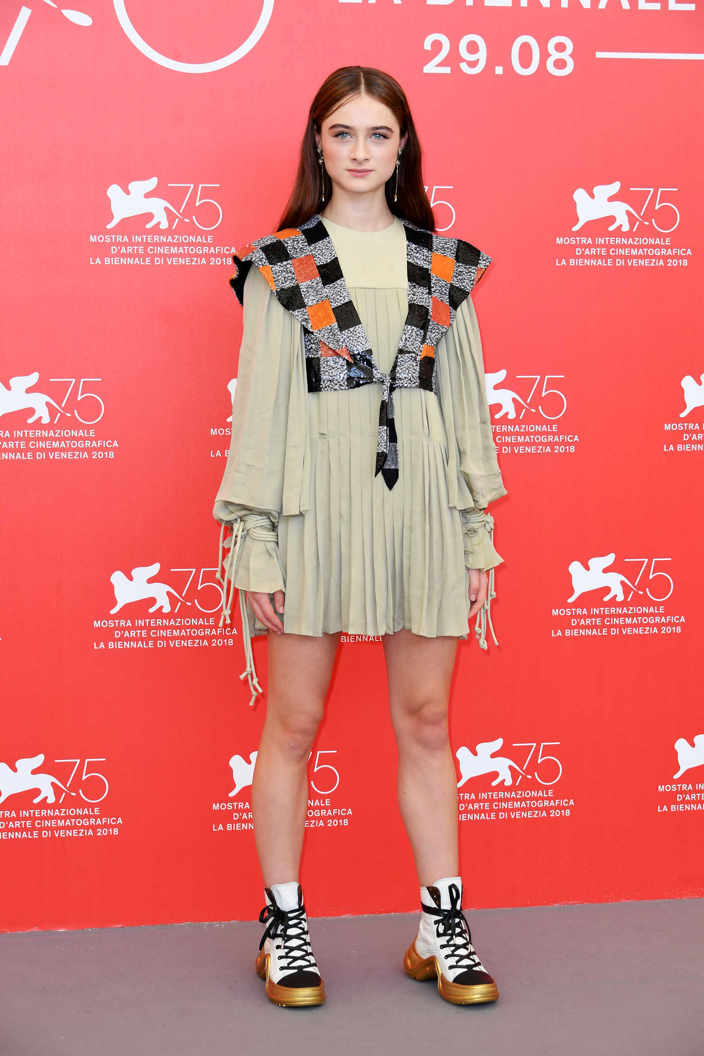 Raffey Cassidy at the Vox Lux Photocall During the 75th Venice Film Festival in Venice 09/04/2018