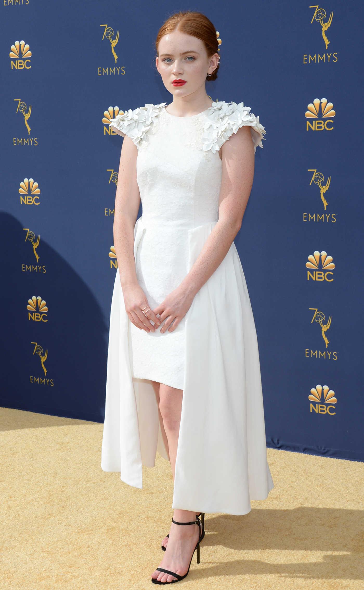 Sadie Sink at the 70th Primetime Emmy Awards in LA 09/17/2018