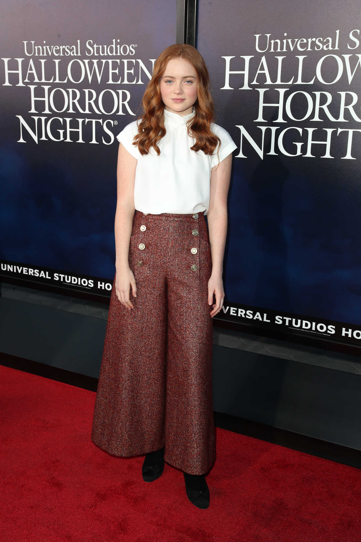 Sadie Sink at the Universal Studios Halloween Horror Nights in Hollywood 09/14/2018