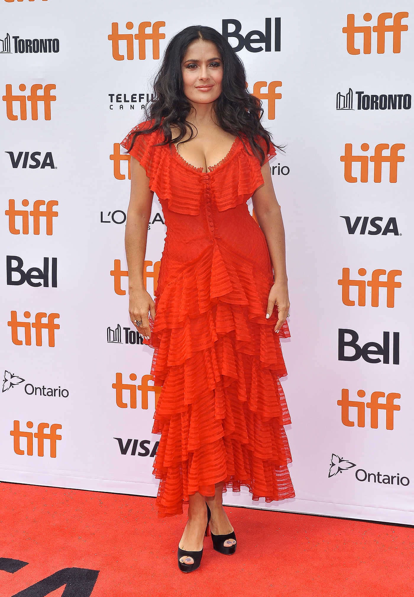 Salma Hayek at The Hummingbird Project Premiere During Toronto International Film Festival in Toronto 09/08/2018