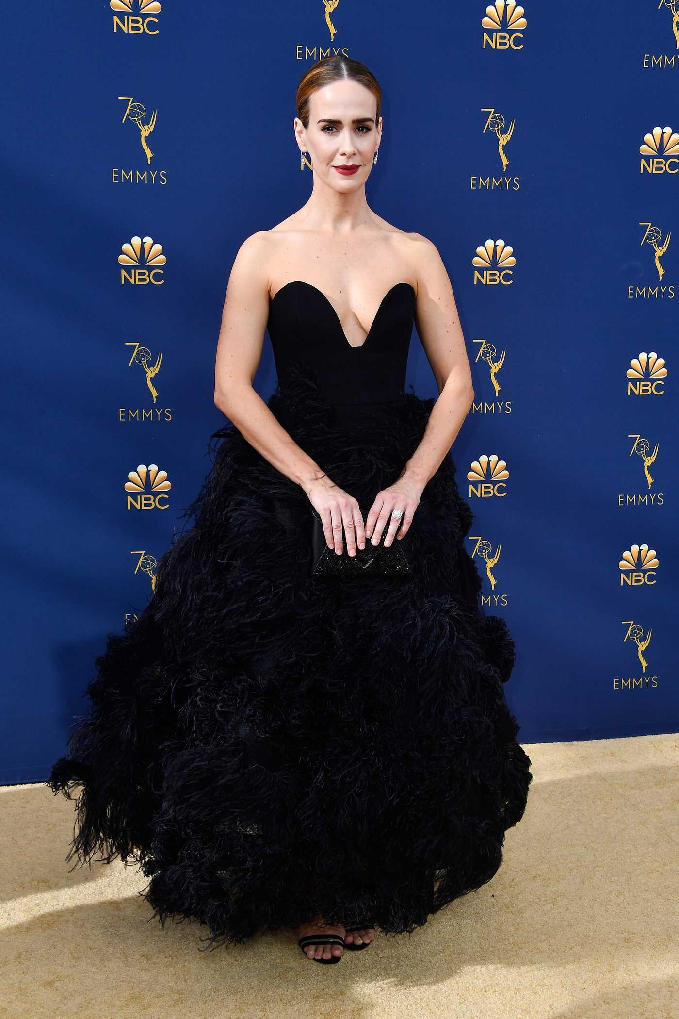 Sarah Paulson at the 70th Primetime Emmy Awards in LA 09/17/2018