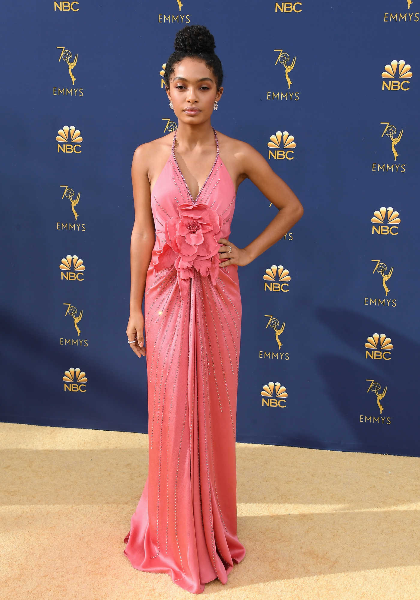 Yara Shahidi at the 70th Primetime Emmy Awards in LA 09/17/2018