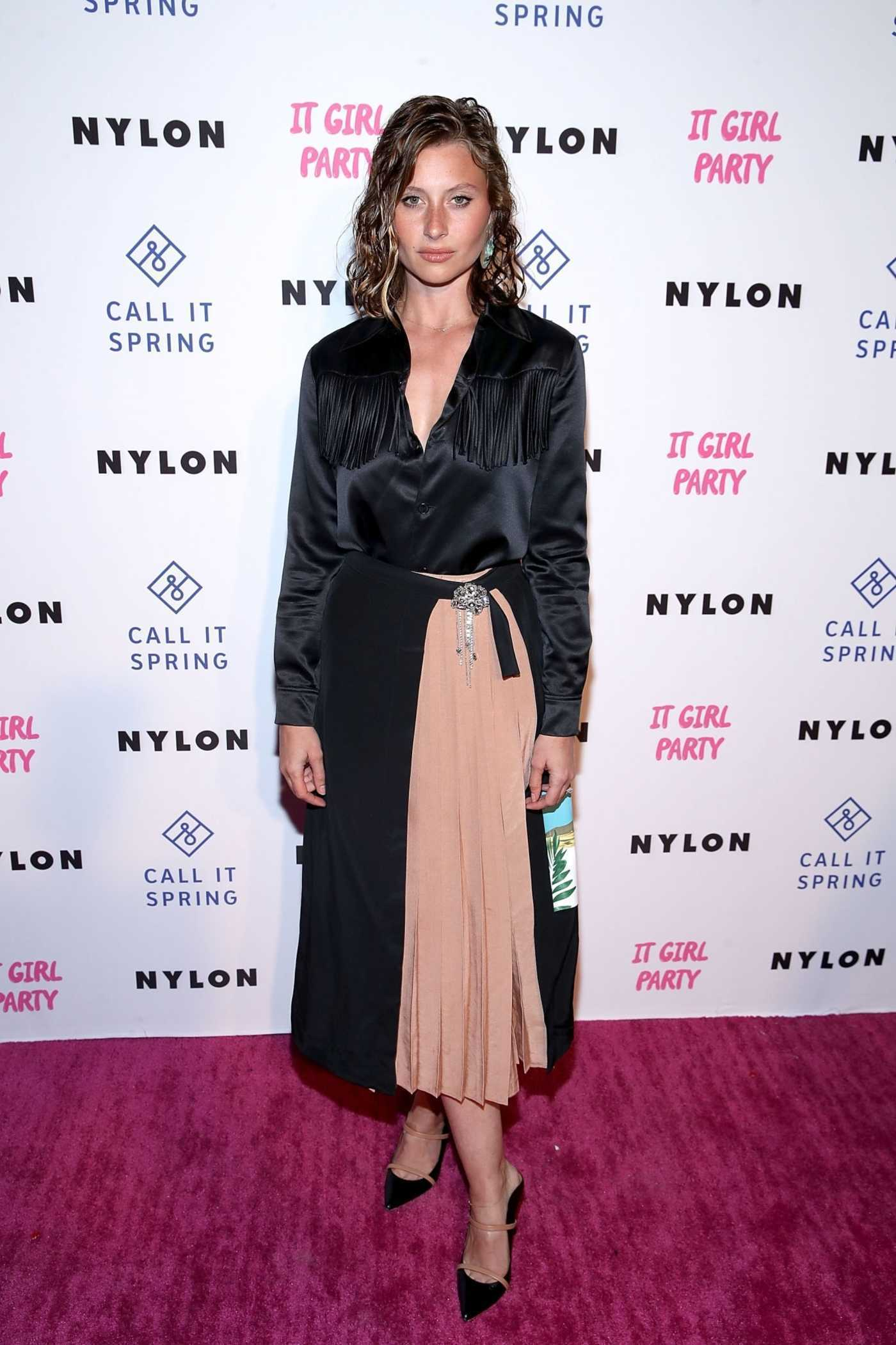 Aly Michalka Attends NYLON's Annual It Girl Party at The Ace Hotel in LA 10/11/2018