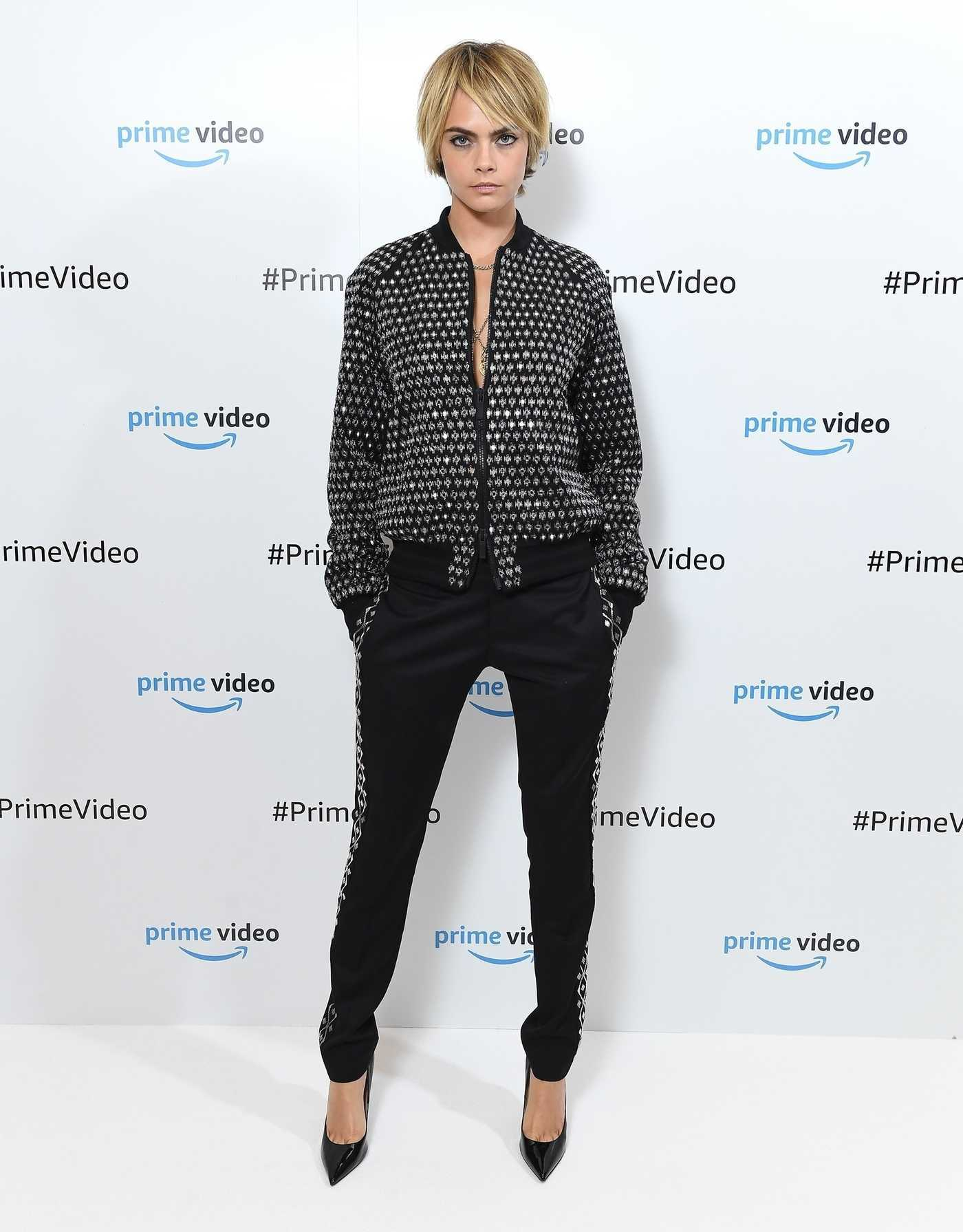 Cara Delevingne Arrives for Amazon Prime Video Presents Carnival Row in London 10/02/2018