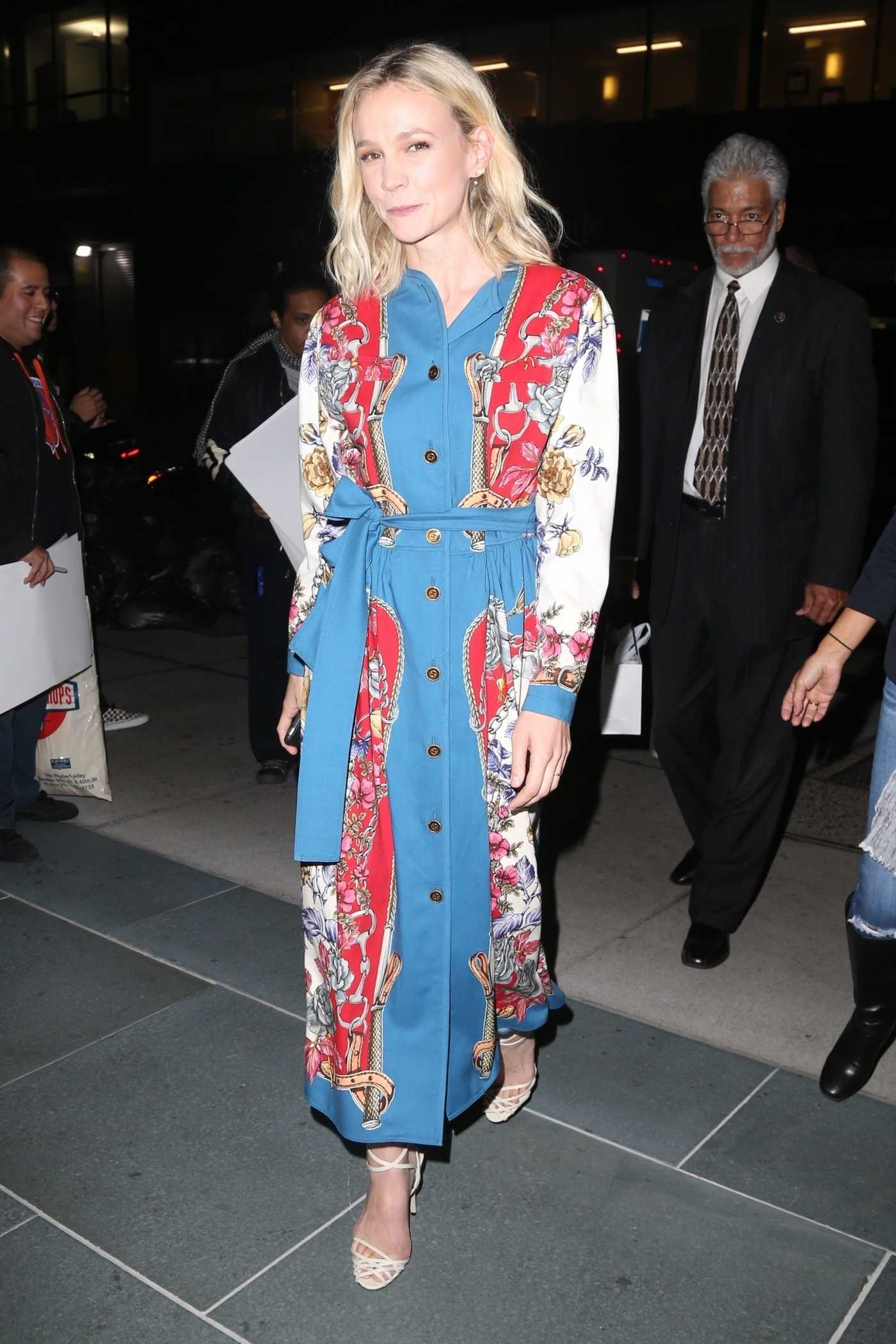 Carey Mulligan in a Gucci Dress Was Seen Out in NYC 10/15/2018