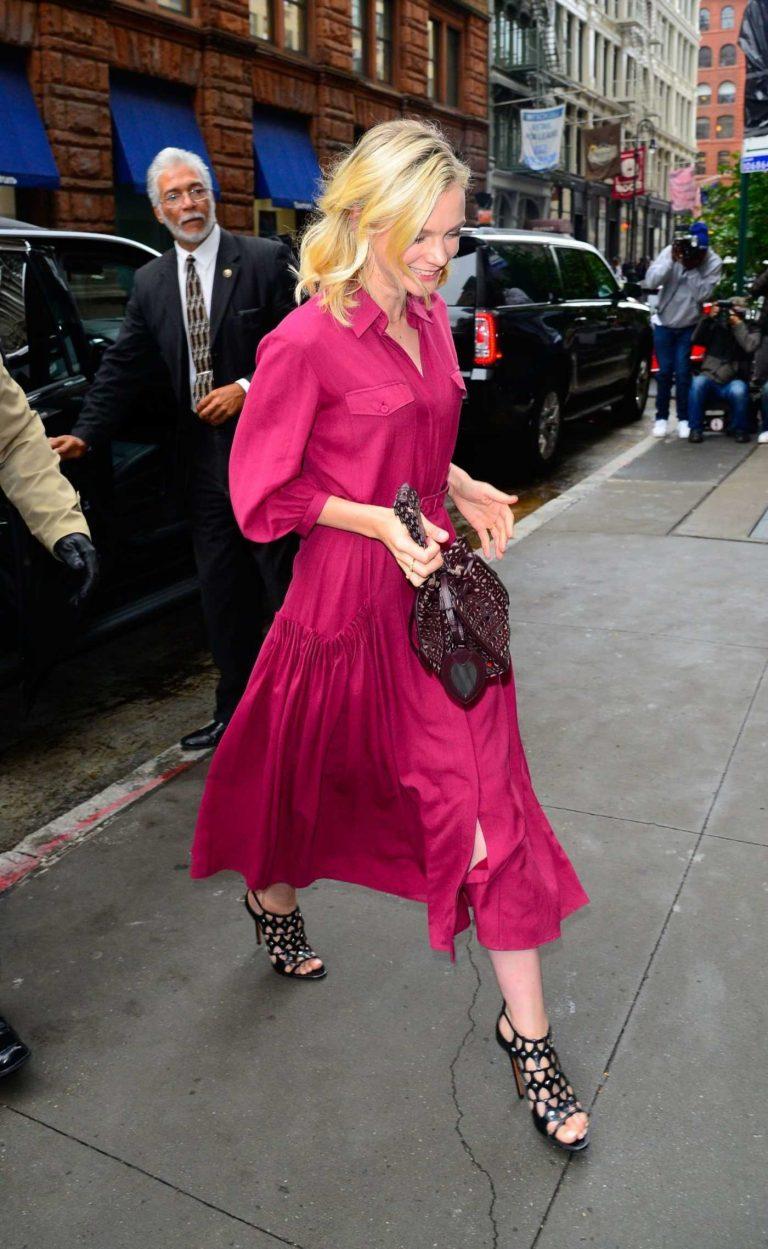 Carey Mulligan in a Red Dress
