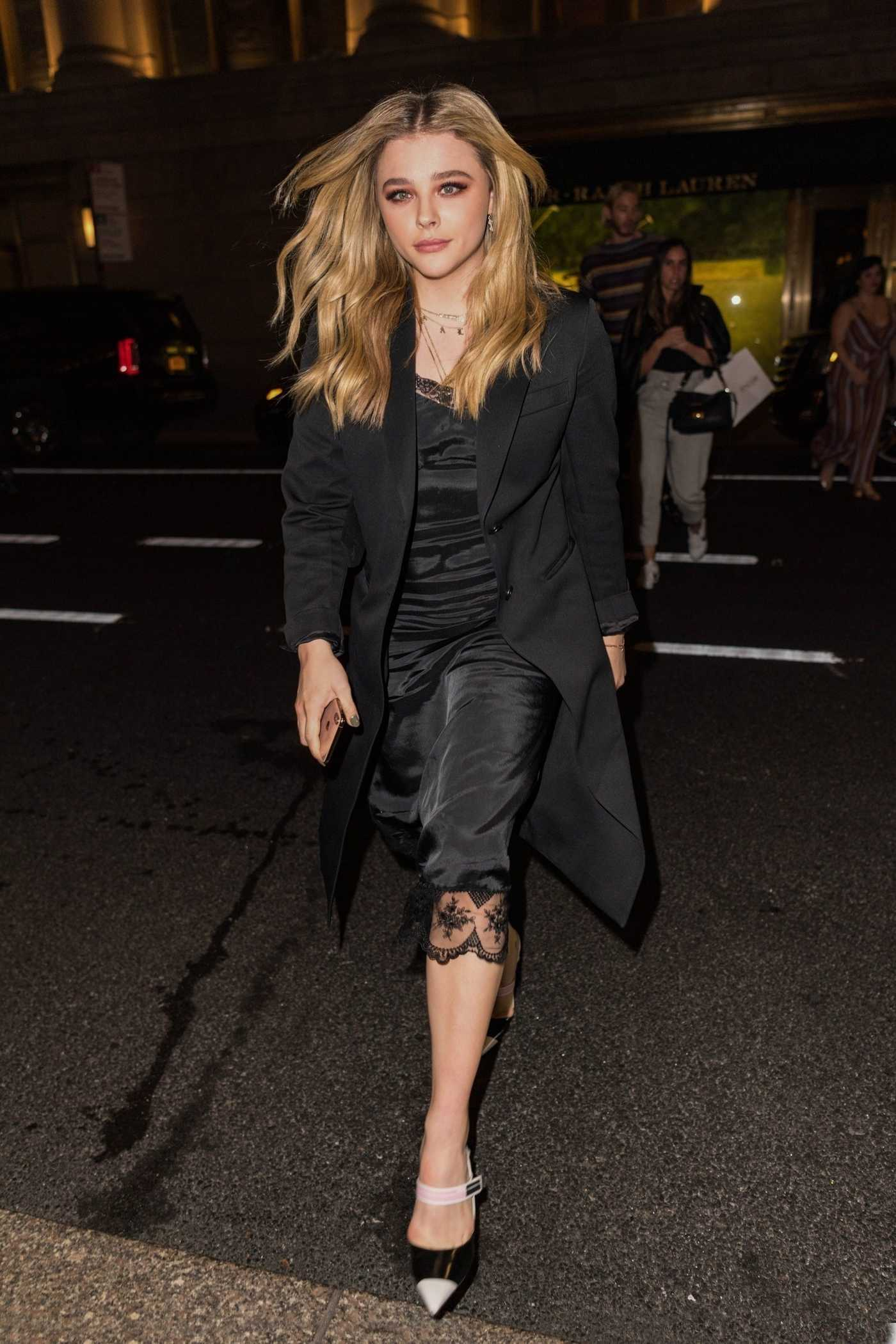 Chloe Moretz Leaves Ralph Polo Bar in NYC 10/09/2018