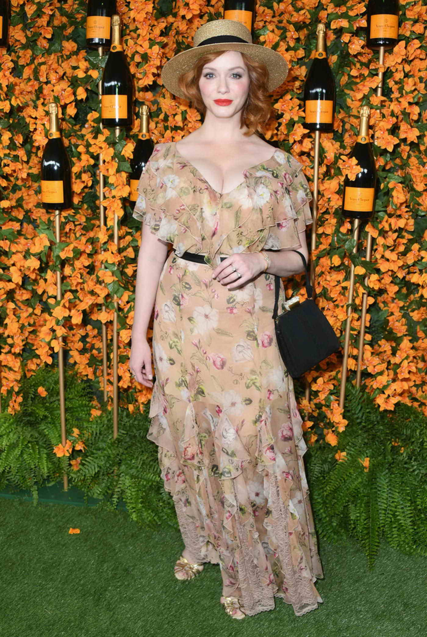 Christina Hendricks Attends the 9th Annual Veuve Clicquot Polo Classic in LA 10/06/2018