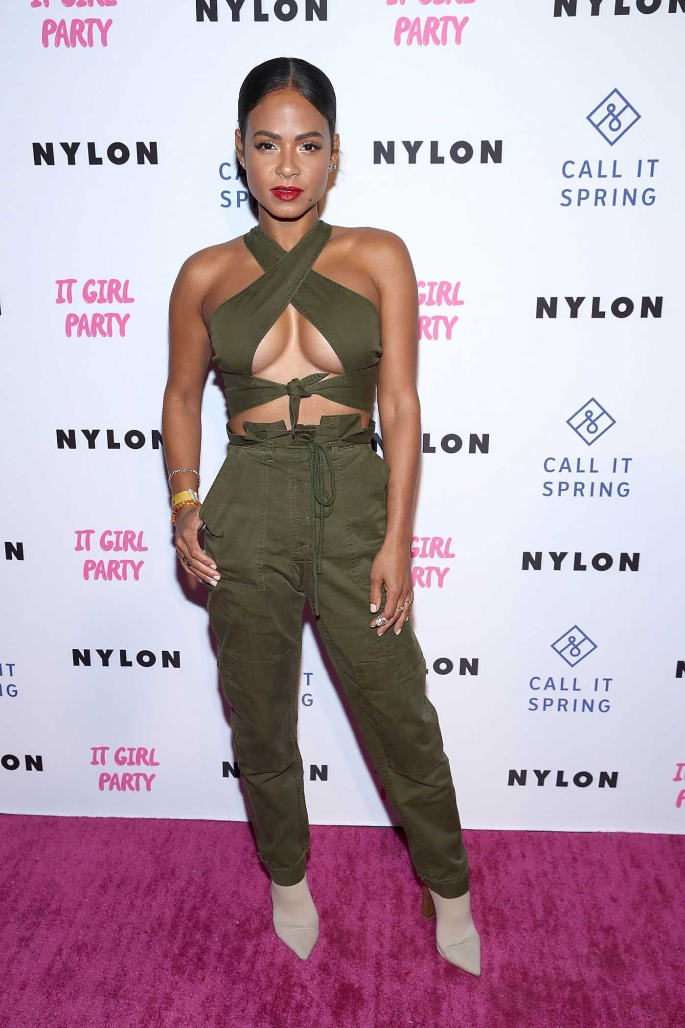 Christina Milian Attends NYLON's Annual It Girl Party at The Ace Hotel in LA 10/11/2018