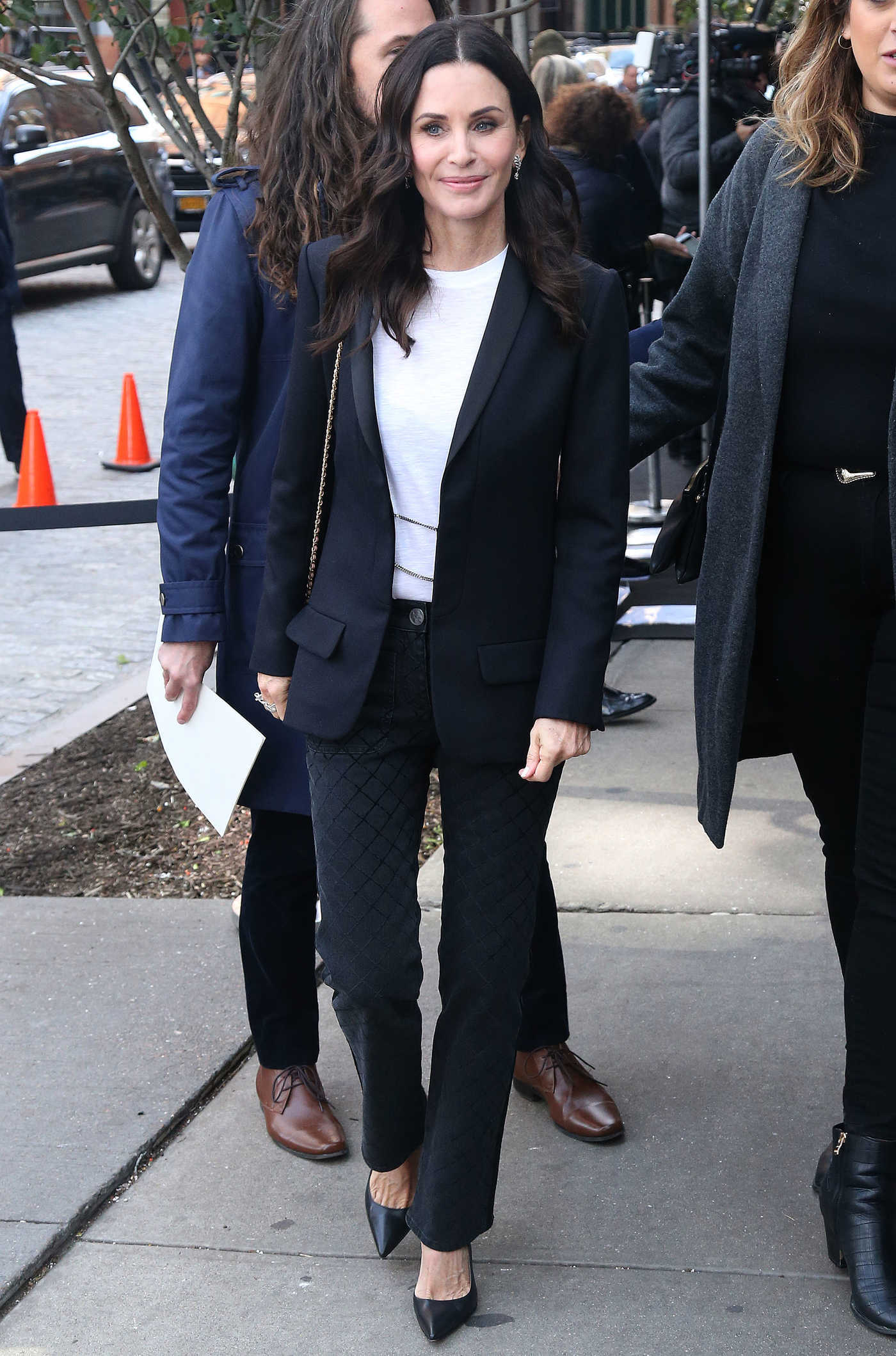 Courteney Cox in a Black Blazer Was Seen Out in New York 10/16/2018