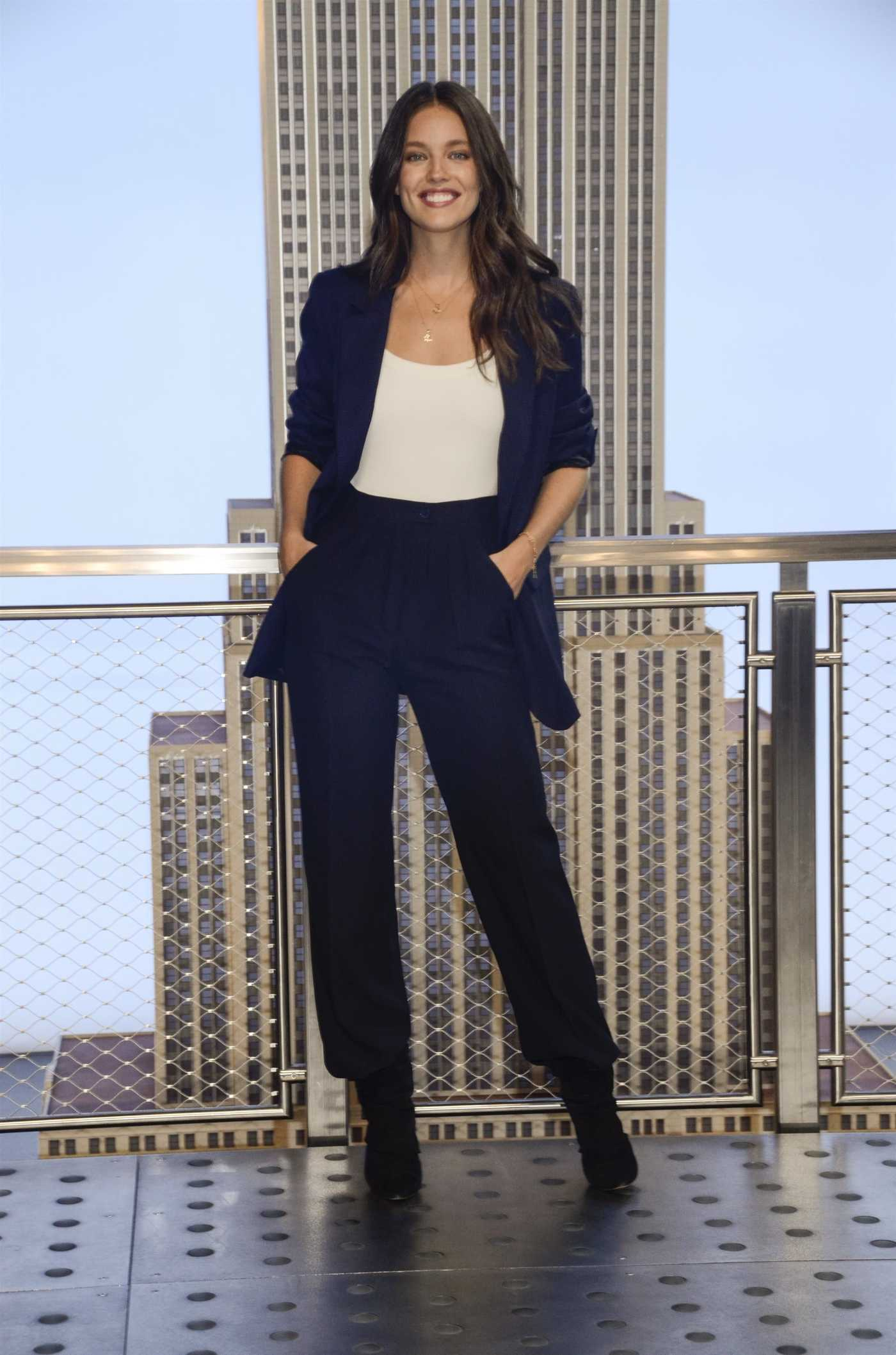 Emily DiDonato Attends the Lighting of the Empire State Building in NYC 10/04/2018