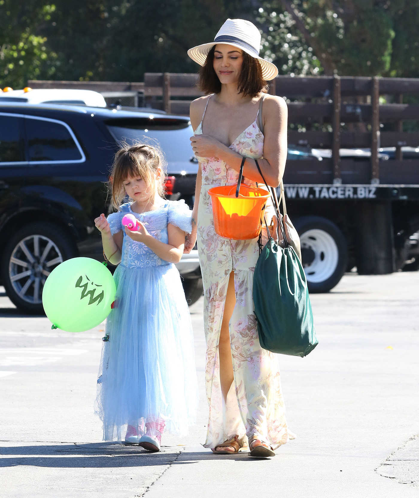 Jenna Dewan Out with Her Daughter Arrives at a Halloween Party in Studio City 10/27/2018