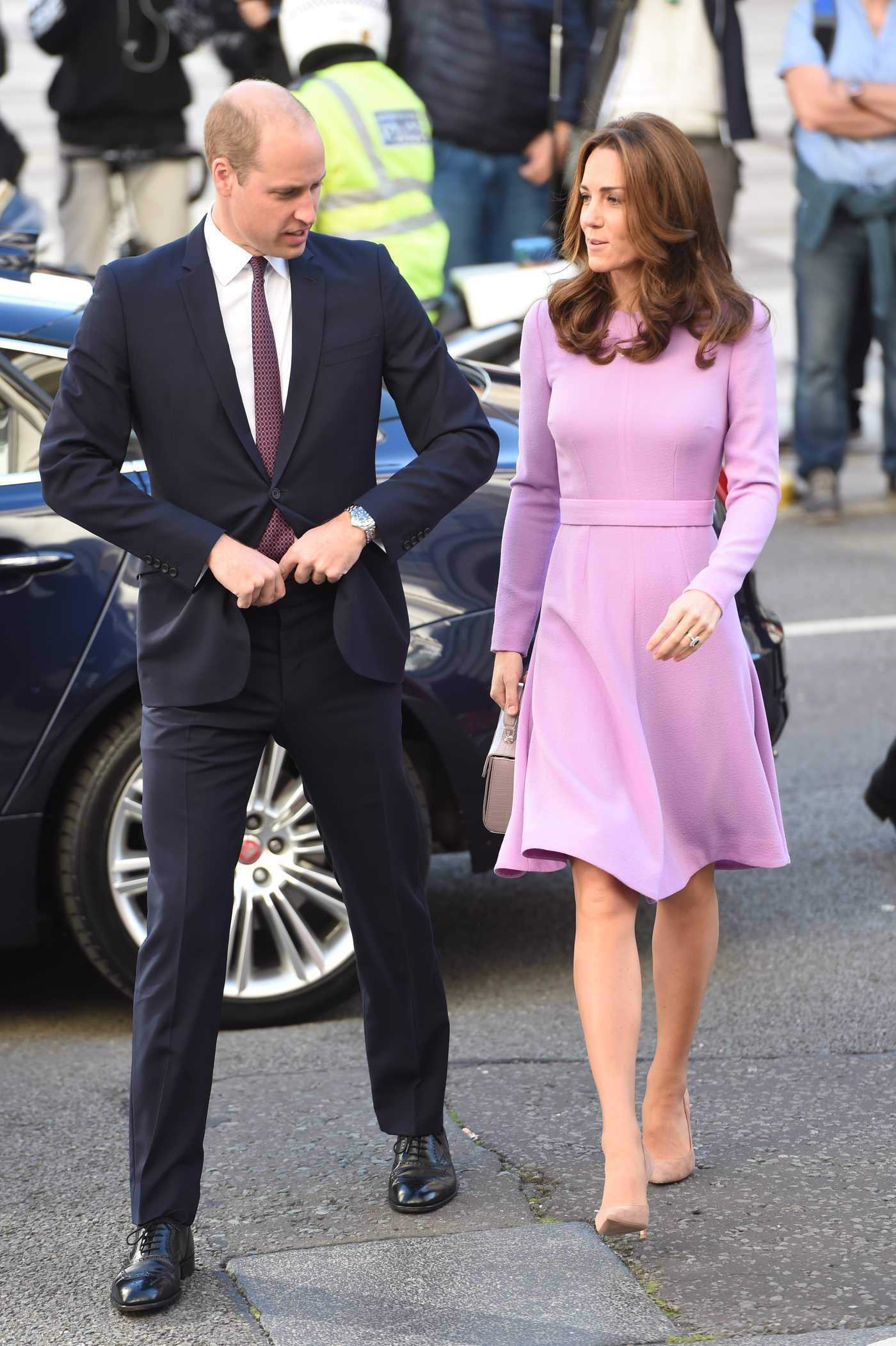 Kate Middleton in a Purple Dress Arrives at the First Global Ministerial Mental Health Summit in London 10/09/2018