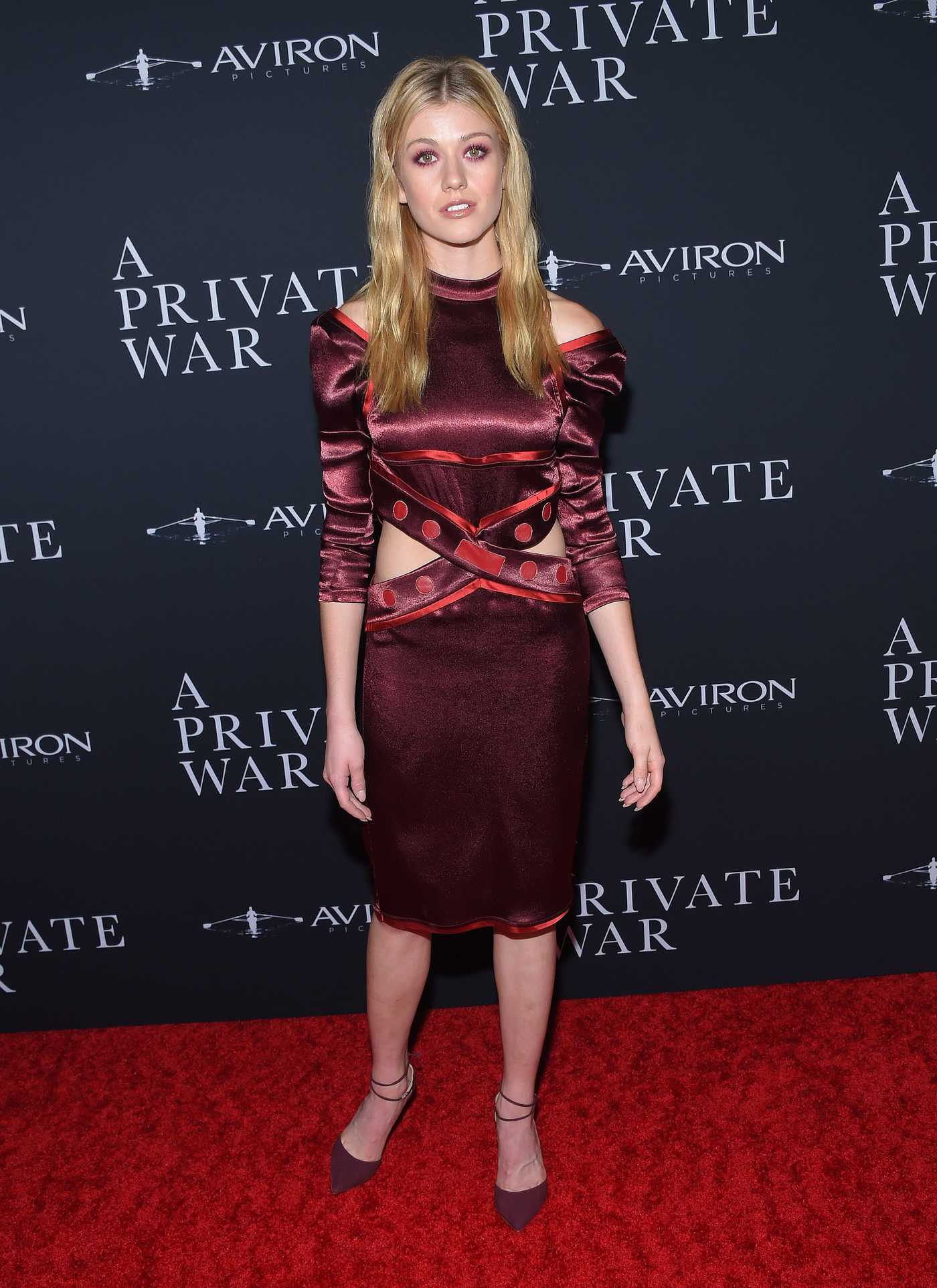 Katherine McNamara Attends A Private War Premiere in Los Angeles 10/24/2018