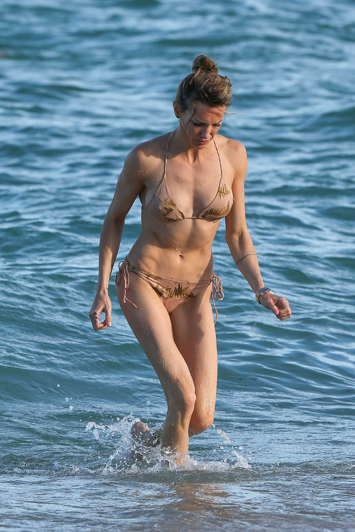 Katie Cassidy in Bikini on the Beach in Miami 10/24/2018