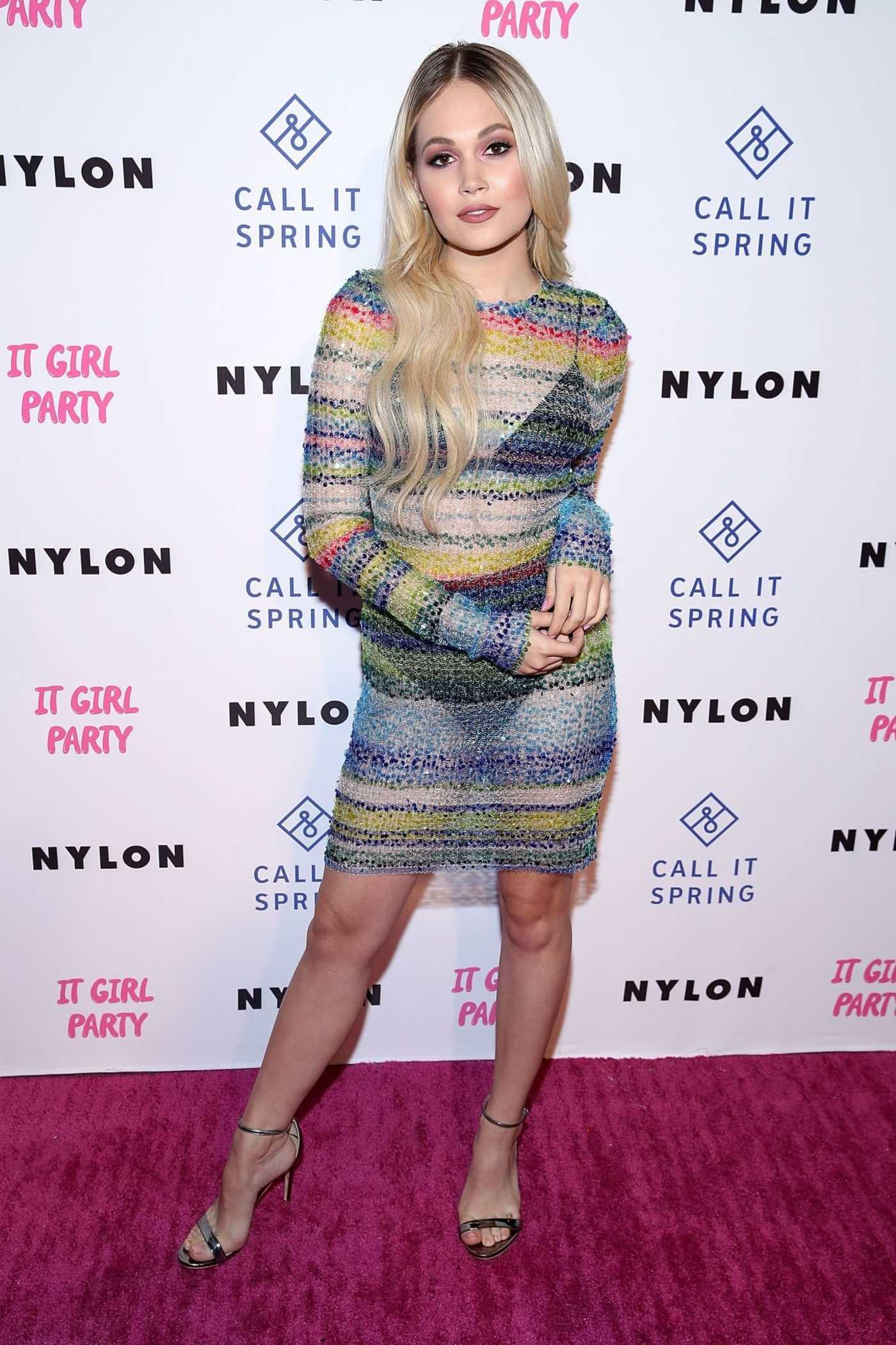 Kelli Berglund Attends NYLON's Annual It Girl Party at The Ace Hotel in LA 10/11/2018