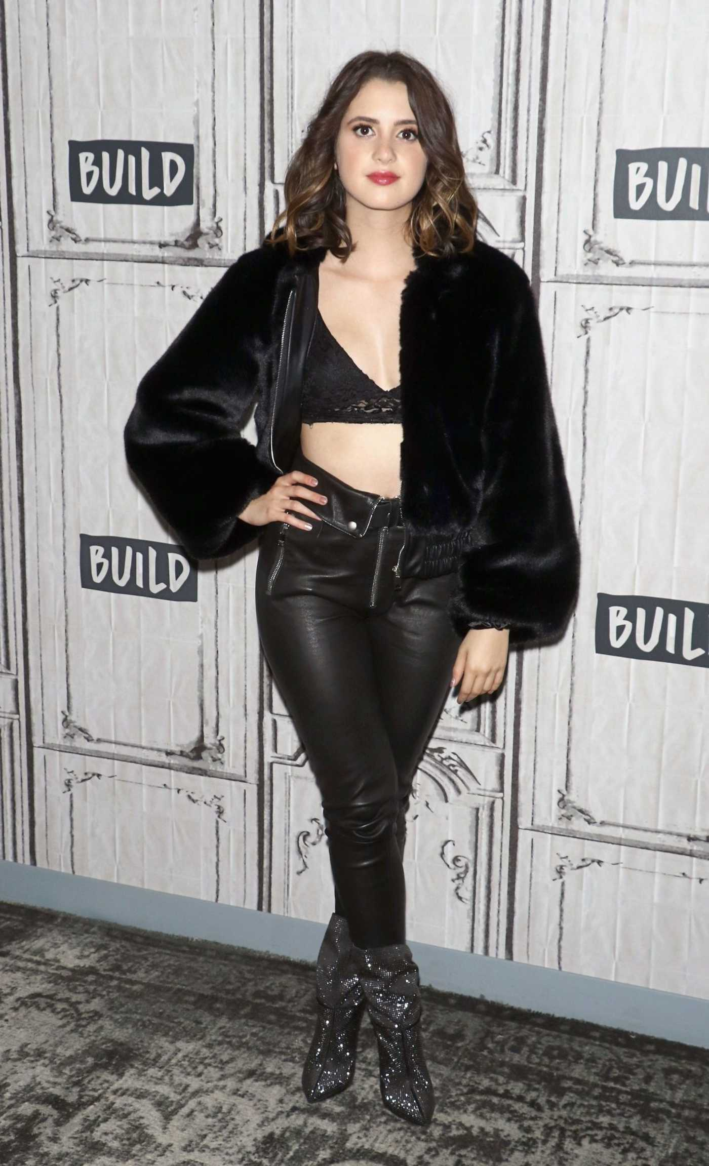 Laura Marano Visits AOL Build Studios in NYC 10/11/2018