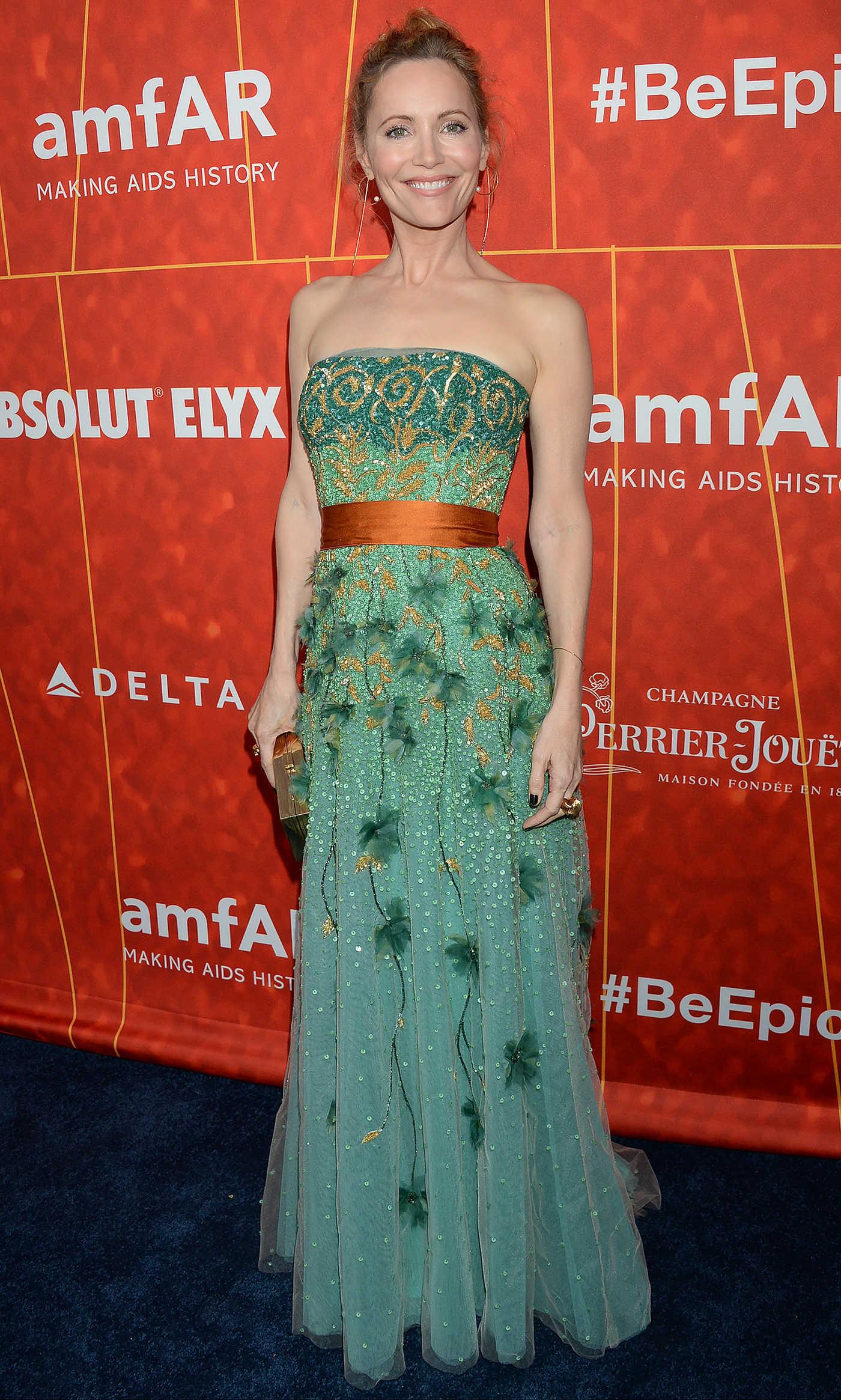 Leslie Mann Attends amfAR Gala in Beverly Hills 10/18/2018
