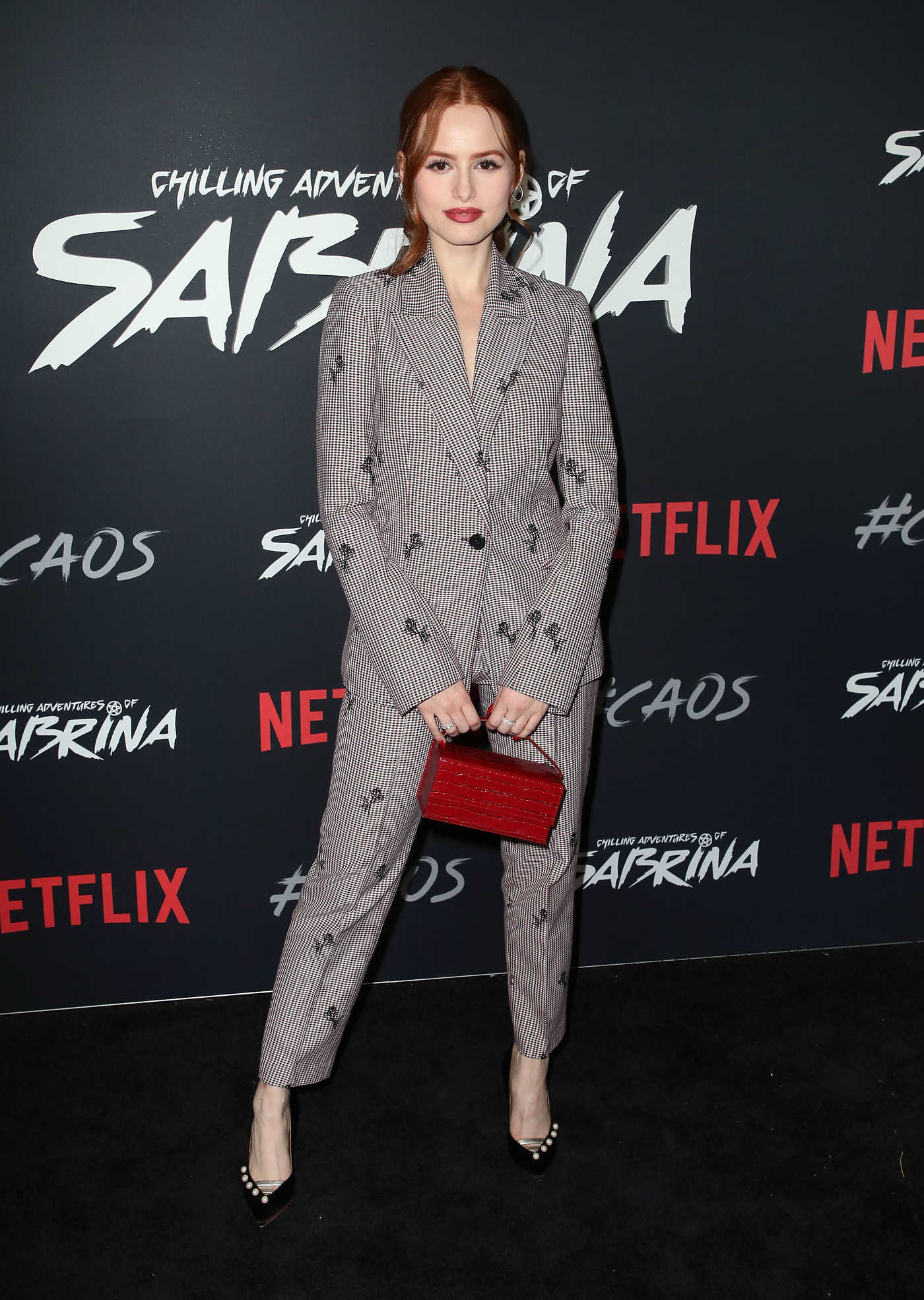 Madelaine Petsch Attends the Chilling Adventures of Sabrina Premiere in LA 10/19/2018