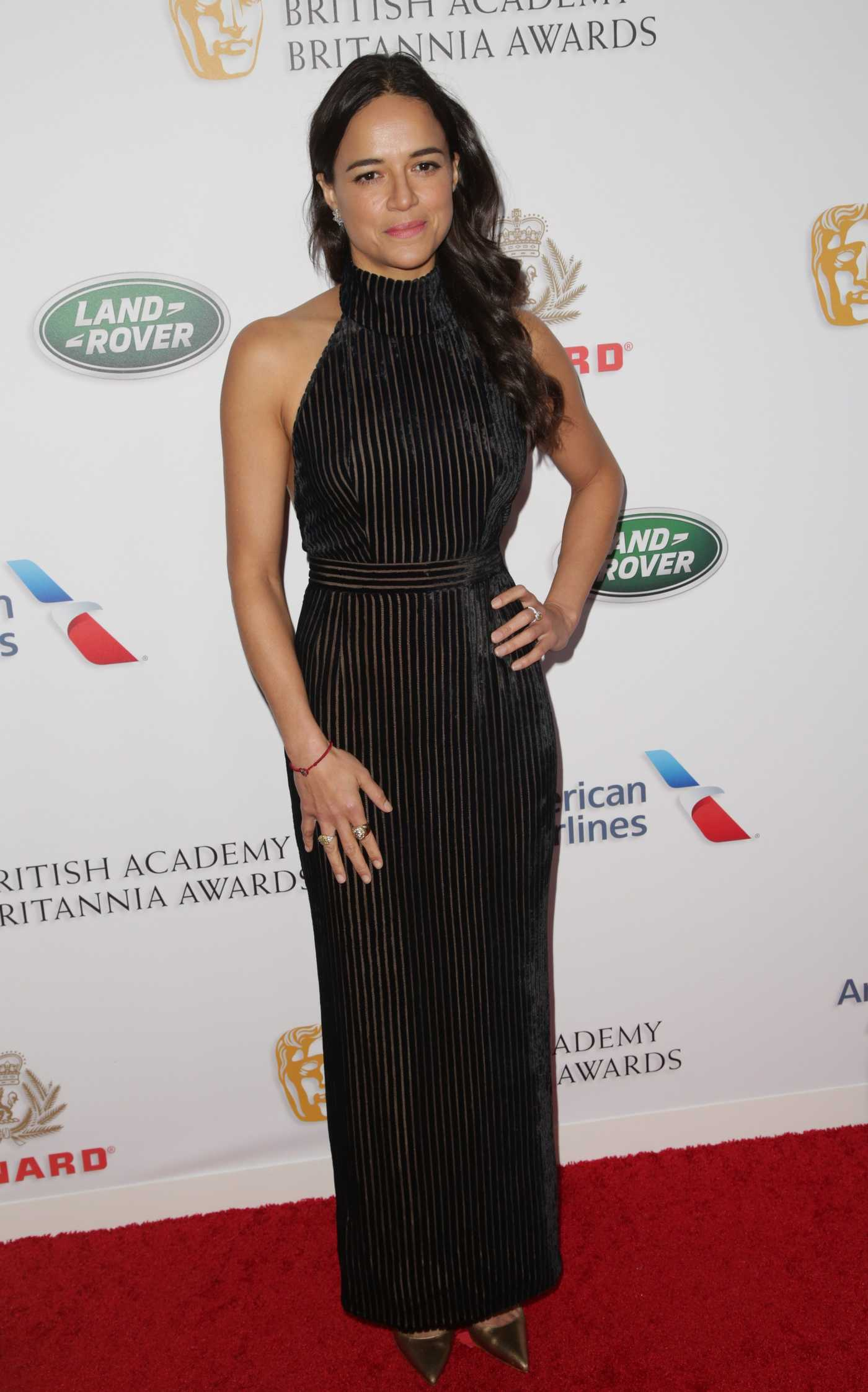 Michelle Rodriguez Attends 2018 British Academy Britannia Awards in LA 10/26/2018