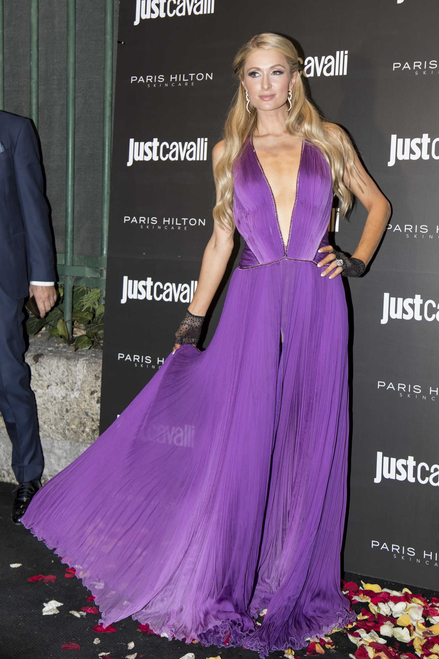 Paris Hilton Attends the ProDna Skincare Launch Party at the Just Cavalli Club in Milan 10/20/2018