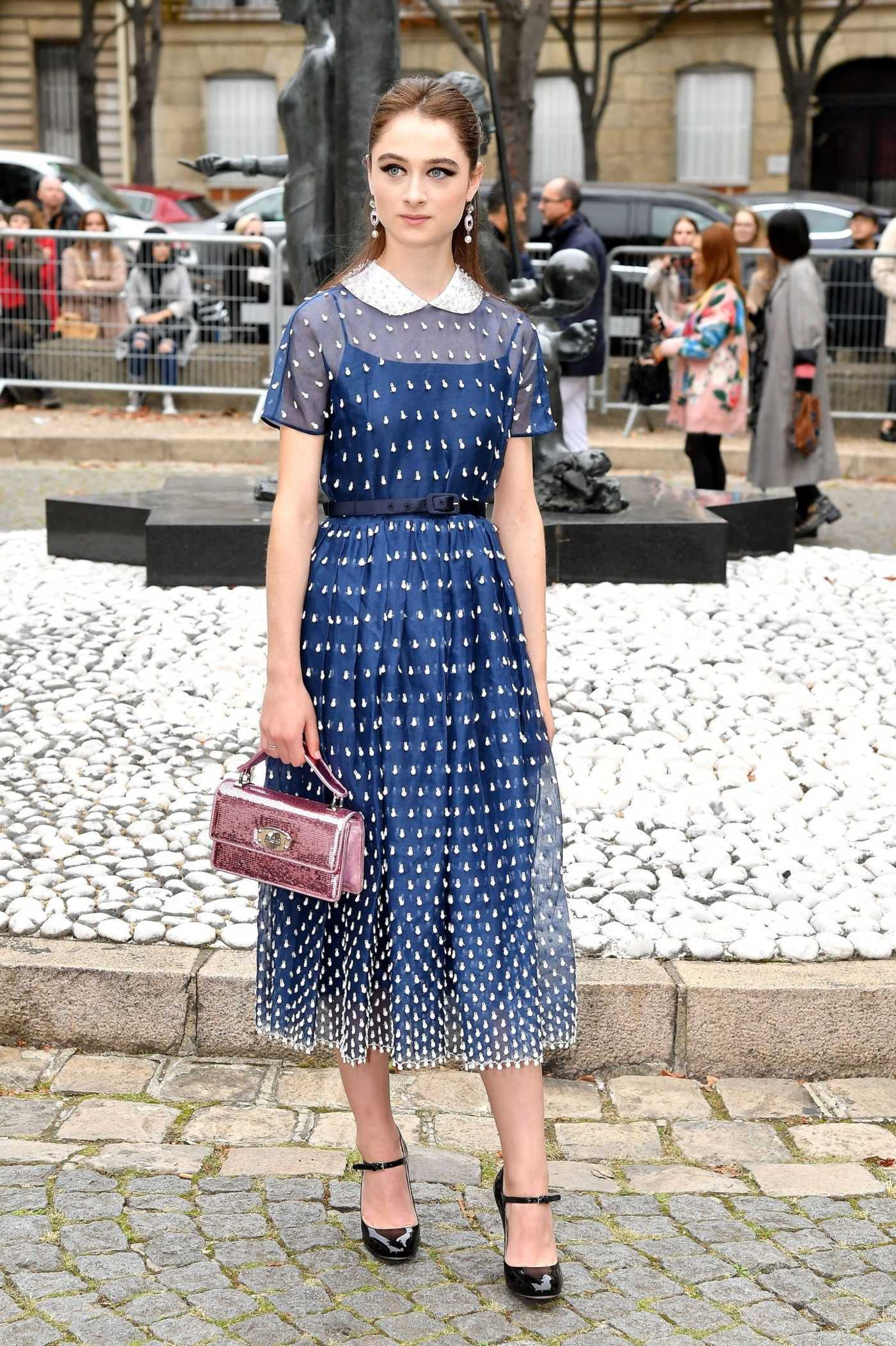 Raffey Cassidy Attends the Miu Miu Show During the Paris Fashion Week in Paris 10/02/2018