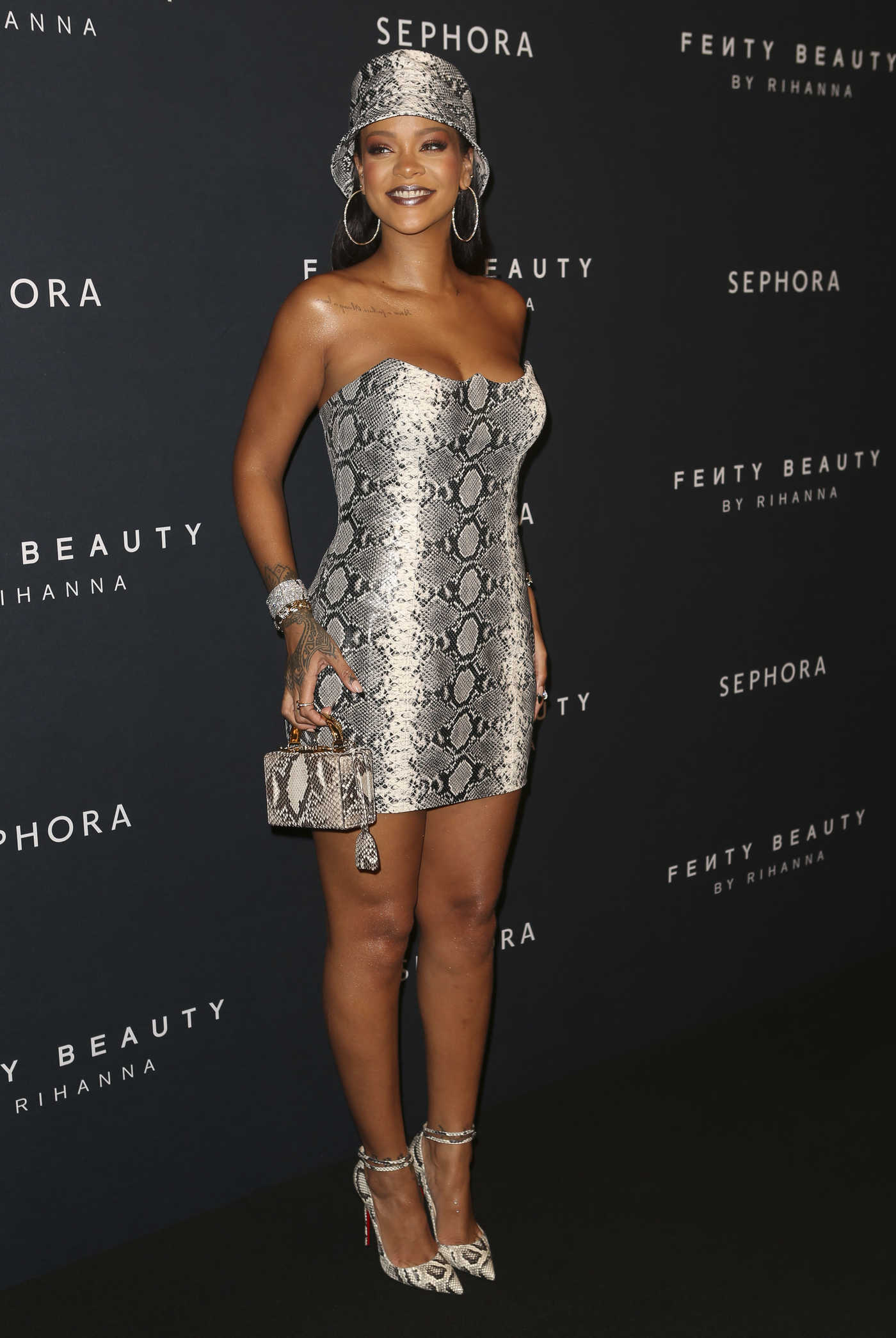 Rihanna Attends the Fenty Beauty by Rihanna Anniversary Event at Overseas Passenger Terminal in Sydney 10/03/2018