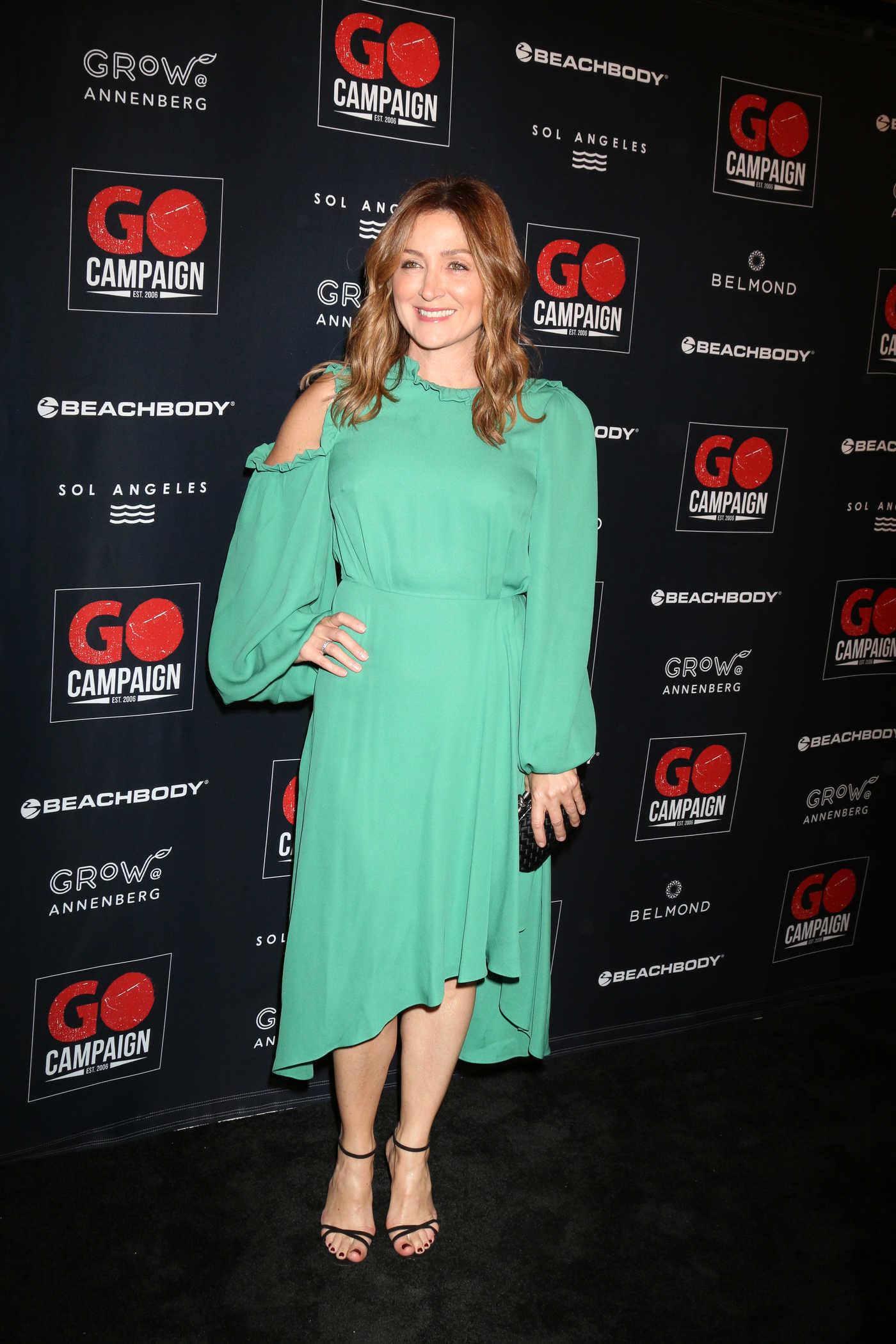 Sasha Alexander Attends GO Campaign Gala in Los Angeles 10/20/2018