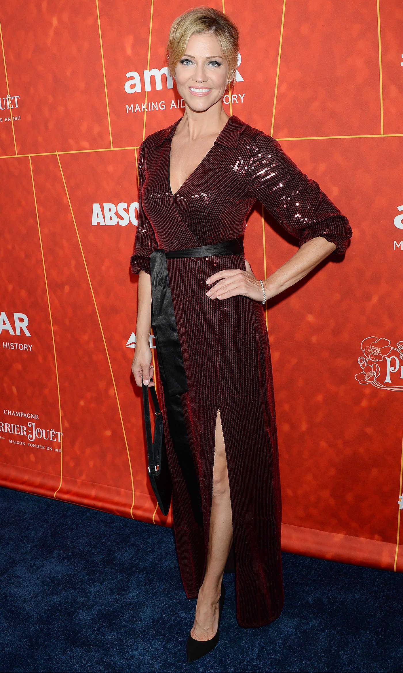 Tricia Helfer Attends amfAR Gala in Beverly Hills 10/18/2018