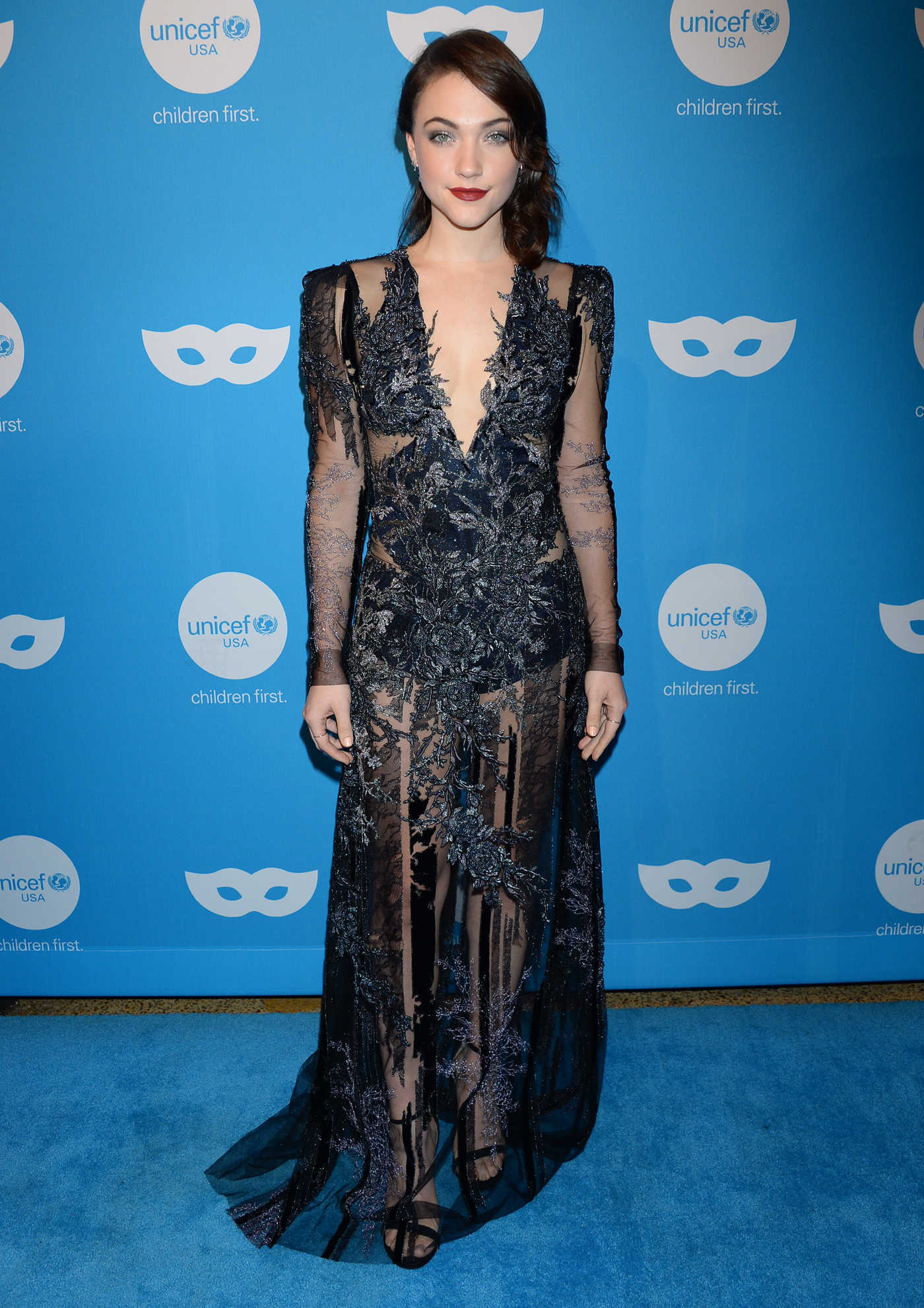 Violett Beane Attends the 6th Annual UNICEF Masquerade Ball in Los Angeles 10/25/2018