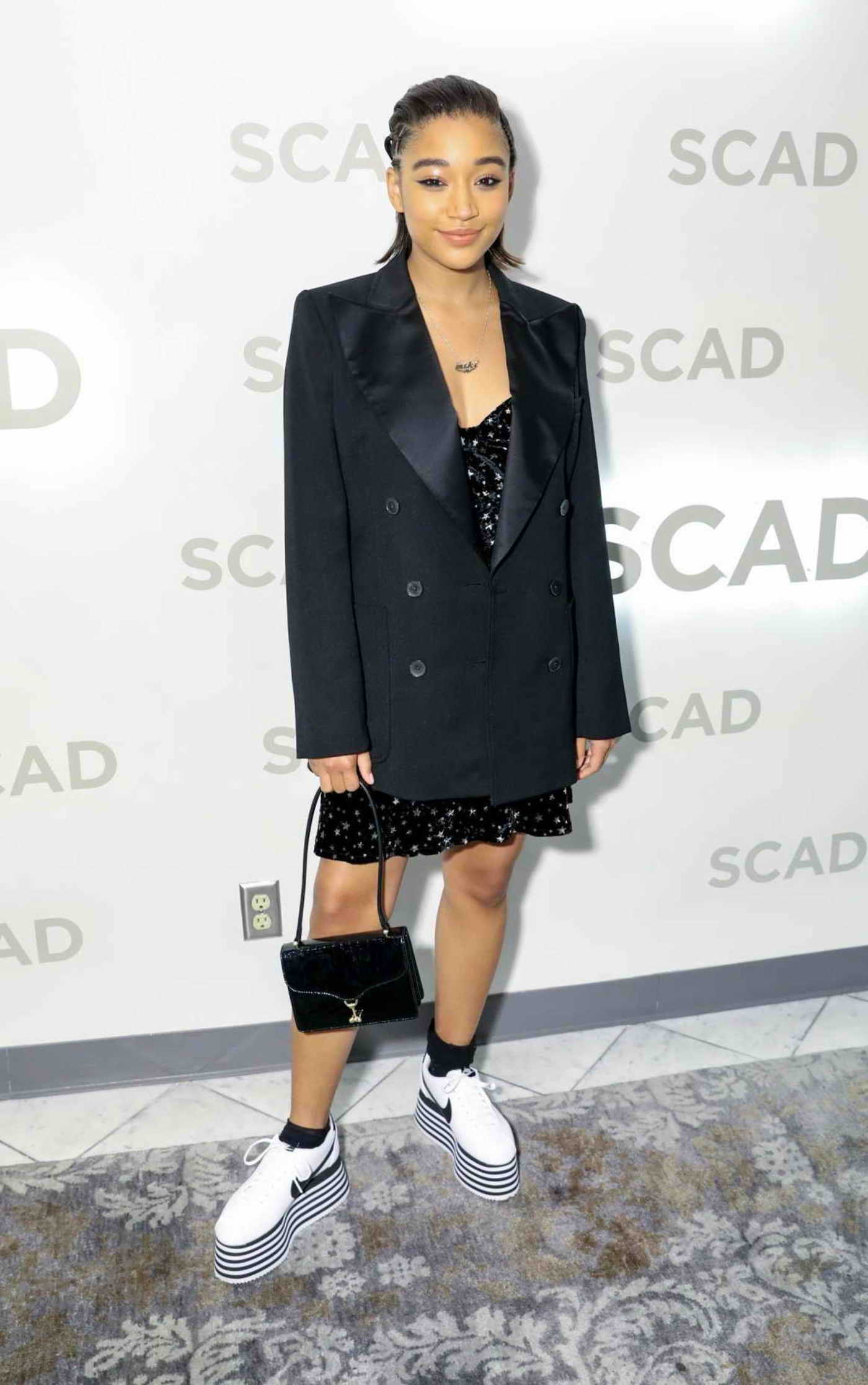 Amandla Stenberg Attends the Rising Star Award During the 21st SCAD Savannah Film Festival in Savannah 11/02/2018