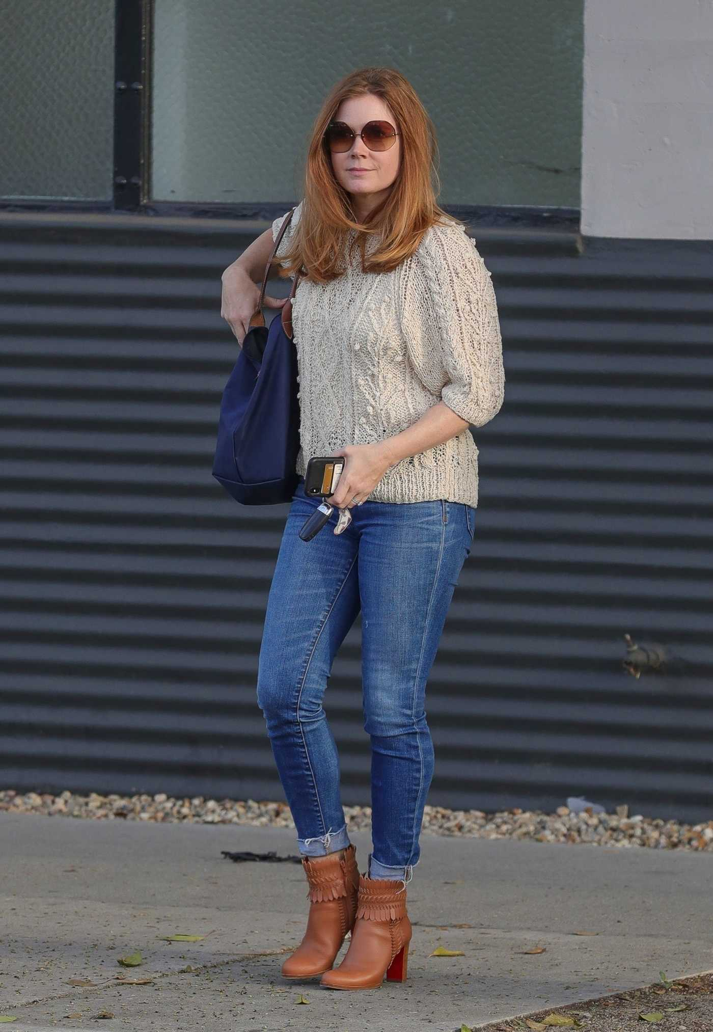 Amy Adams in a Beige Embroidered Sweater Was Seen Out in West Hollywood 11/15/2018