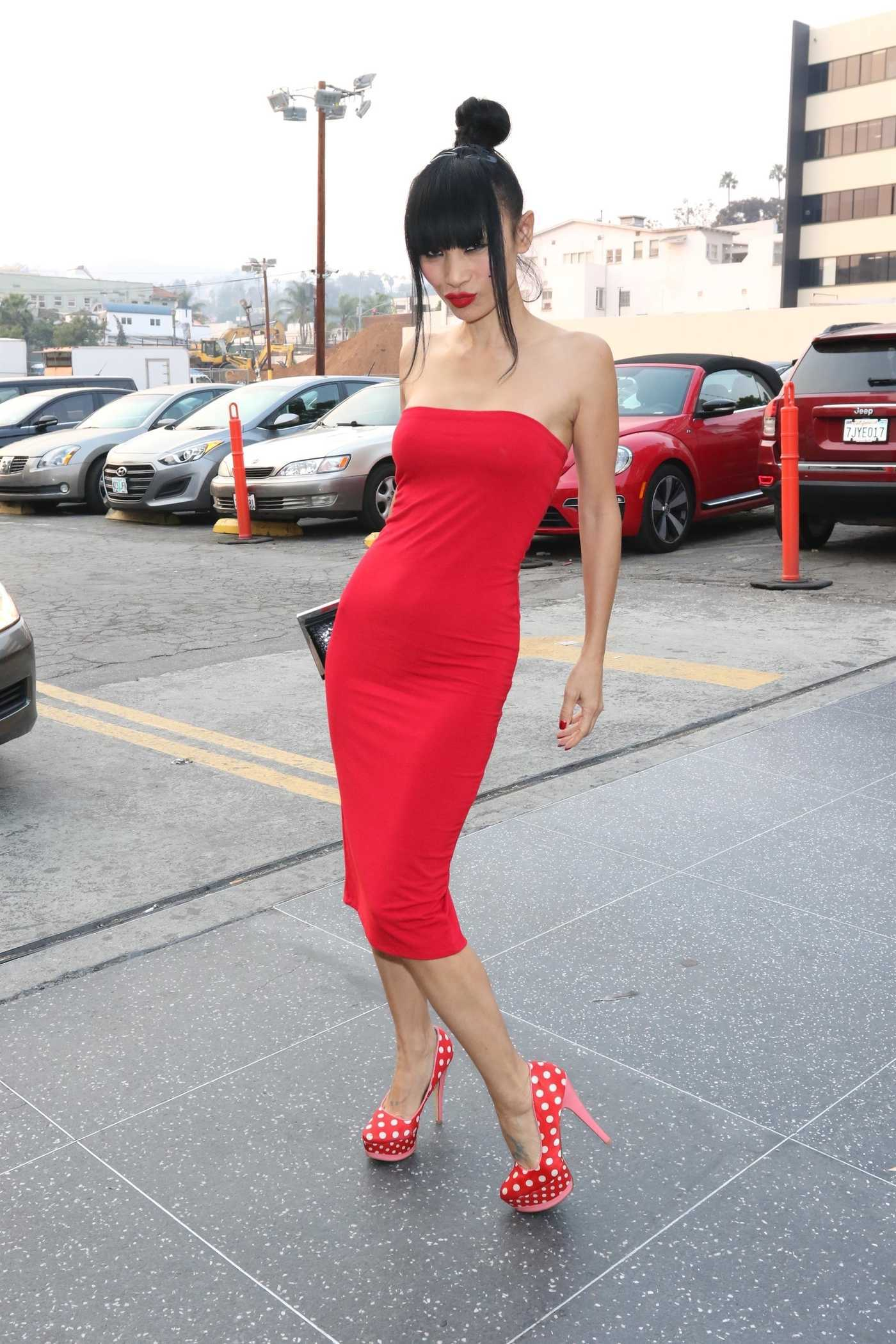 Bai Ling in a Red Dress Was Spotted Outside Avalon in Hollywood 11/10/2018