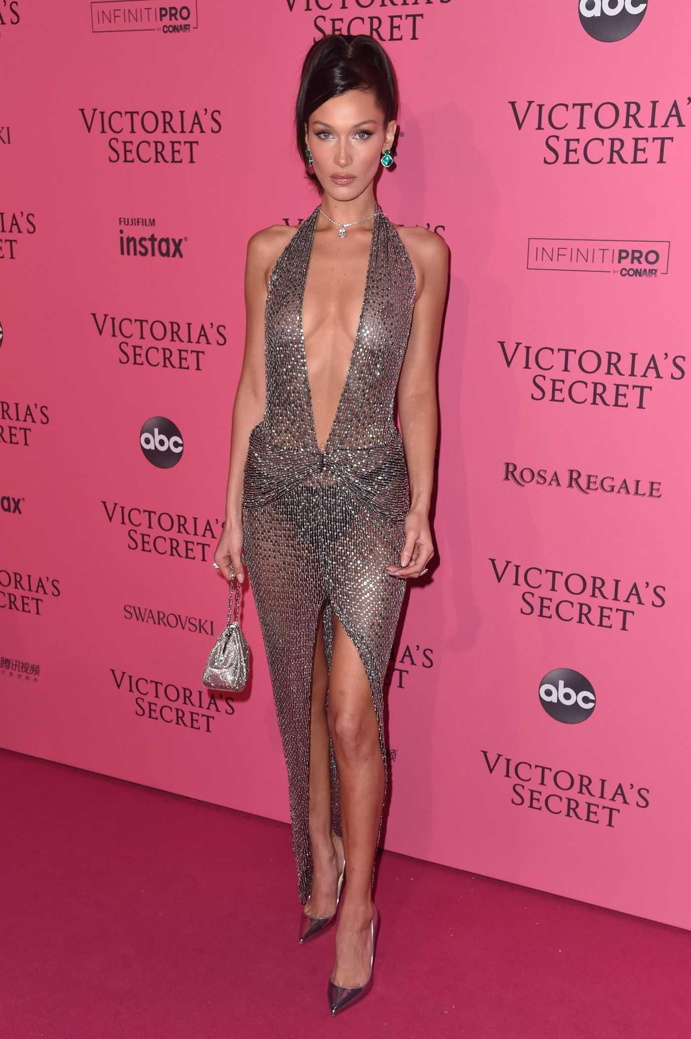 Bella Hadid Attends 2018 Victoria's Secret Fashion Show at Pier 94 in New York City 11/08/2018