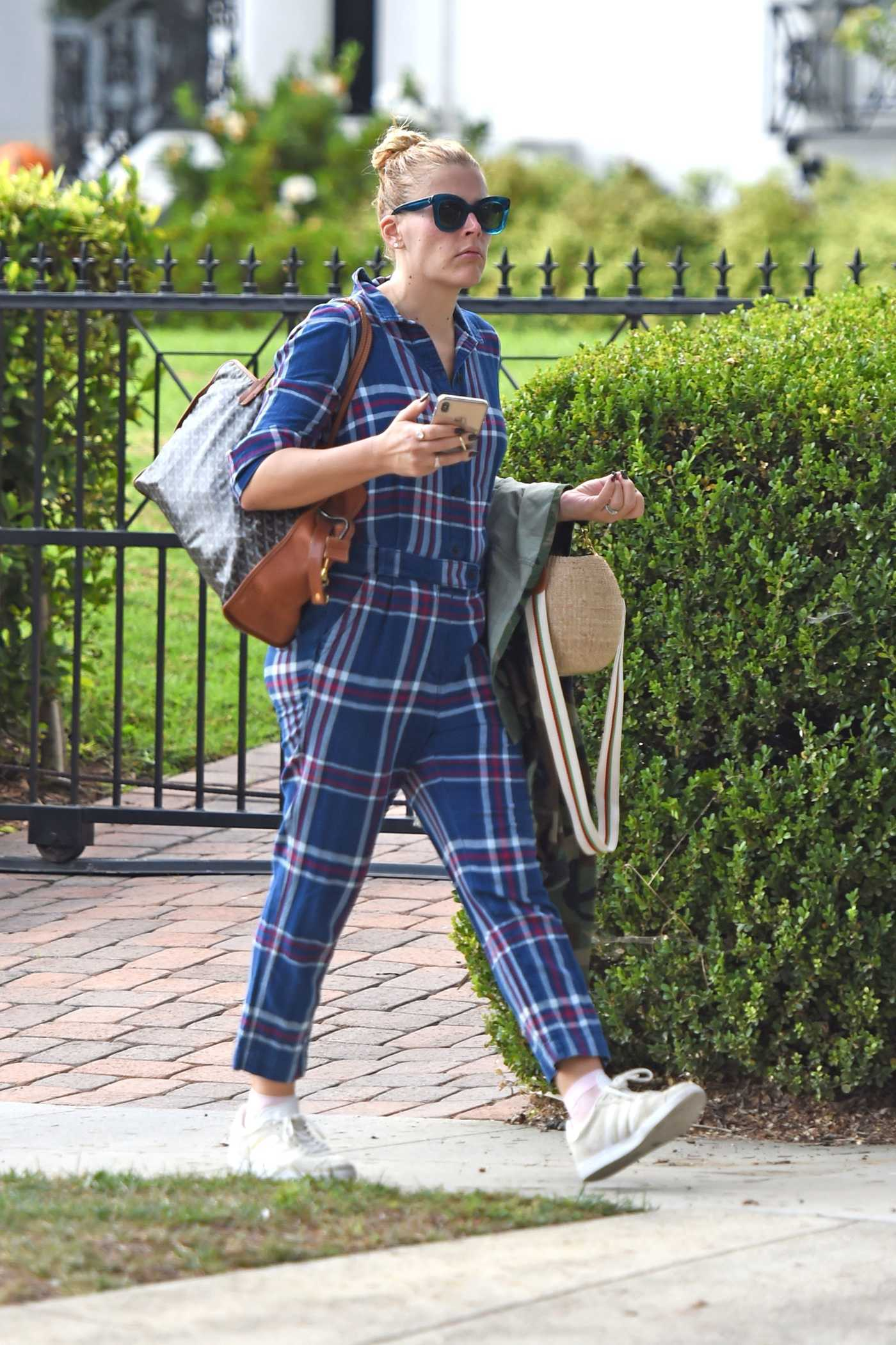Busy Philipps in a Plaid Overalls Was Seen Out in LA 11/07/2018